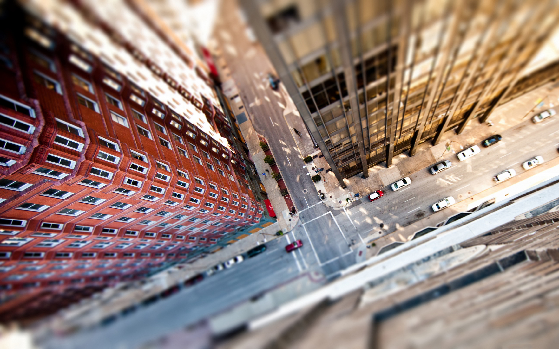 City streets tilt shift