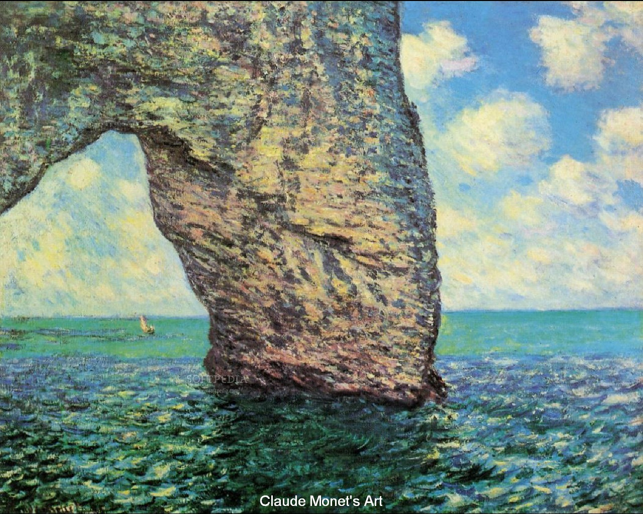 Claude Monet Painting Screensaver - This is one of the numerous paintings of CLaude Monet that