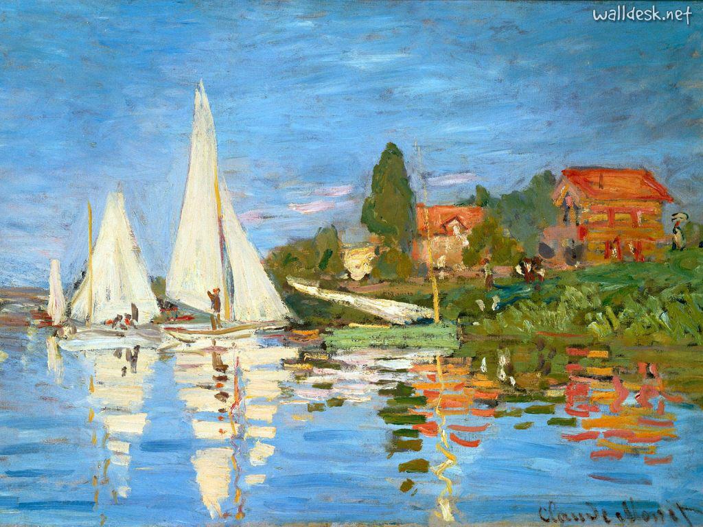 Wallpapers The Regatta at Argenteuil, Claude Monet