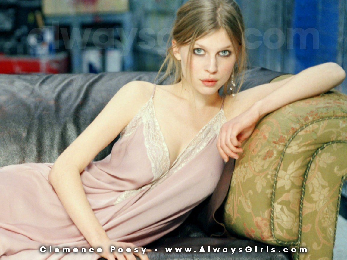 "Clemence Poesy Wallpaper - Right click your mouse and choose ""Set As Background"" to"