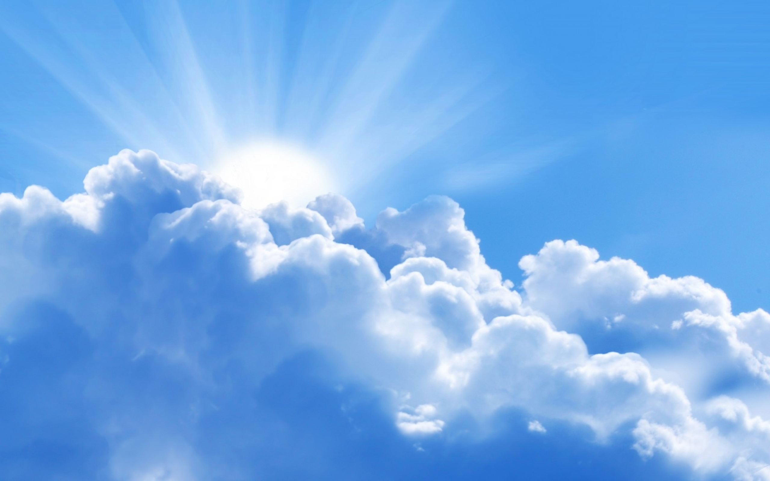 Sun Behind Blue Cloud Hd Wallpapers
