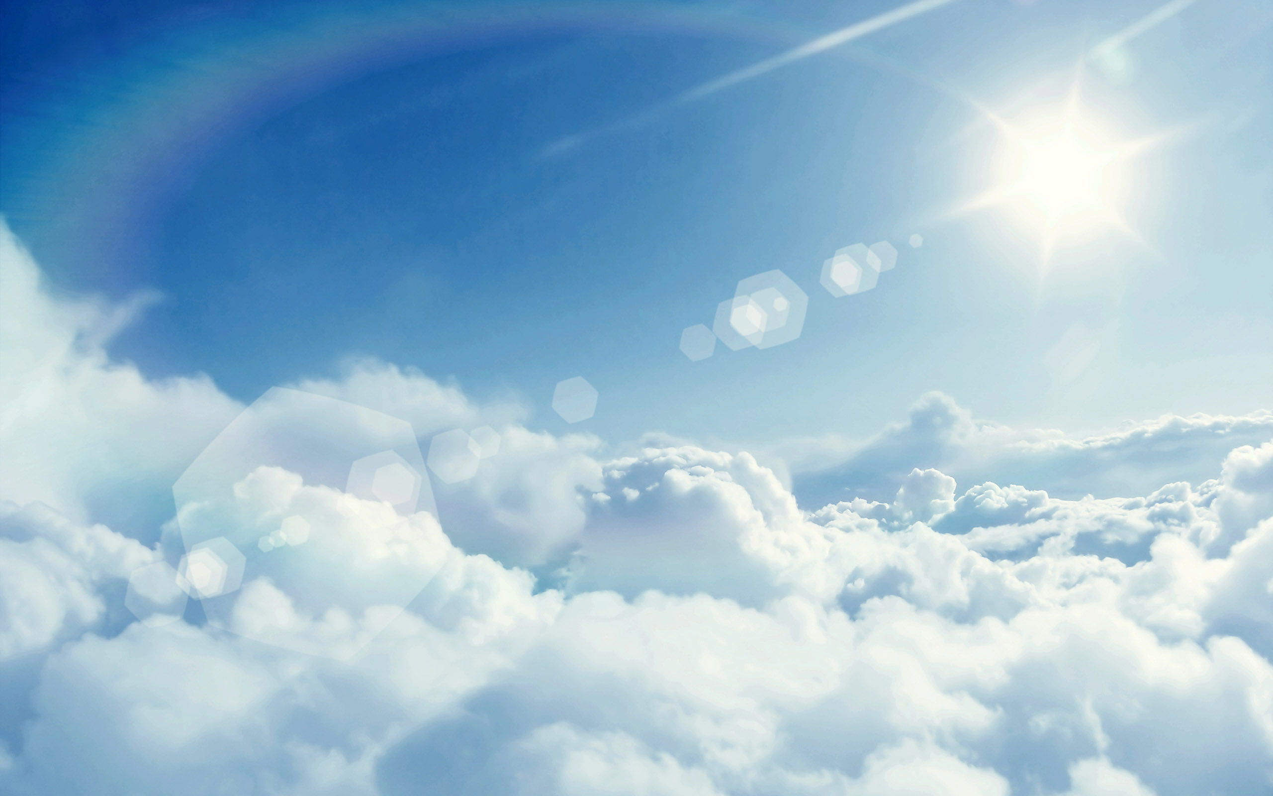 Above The Clouds Creative Wallpaper