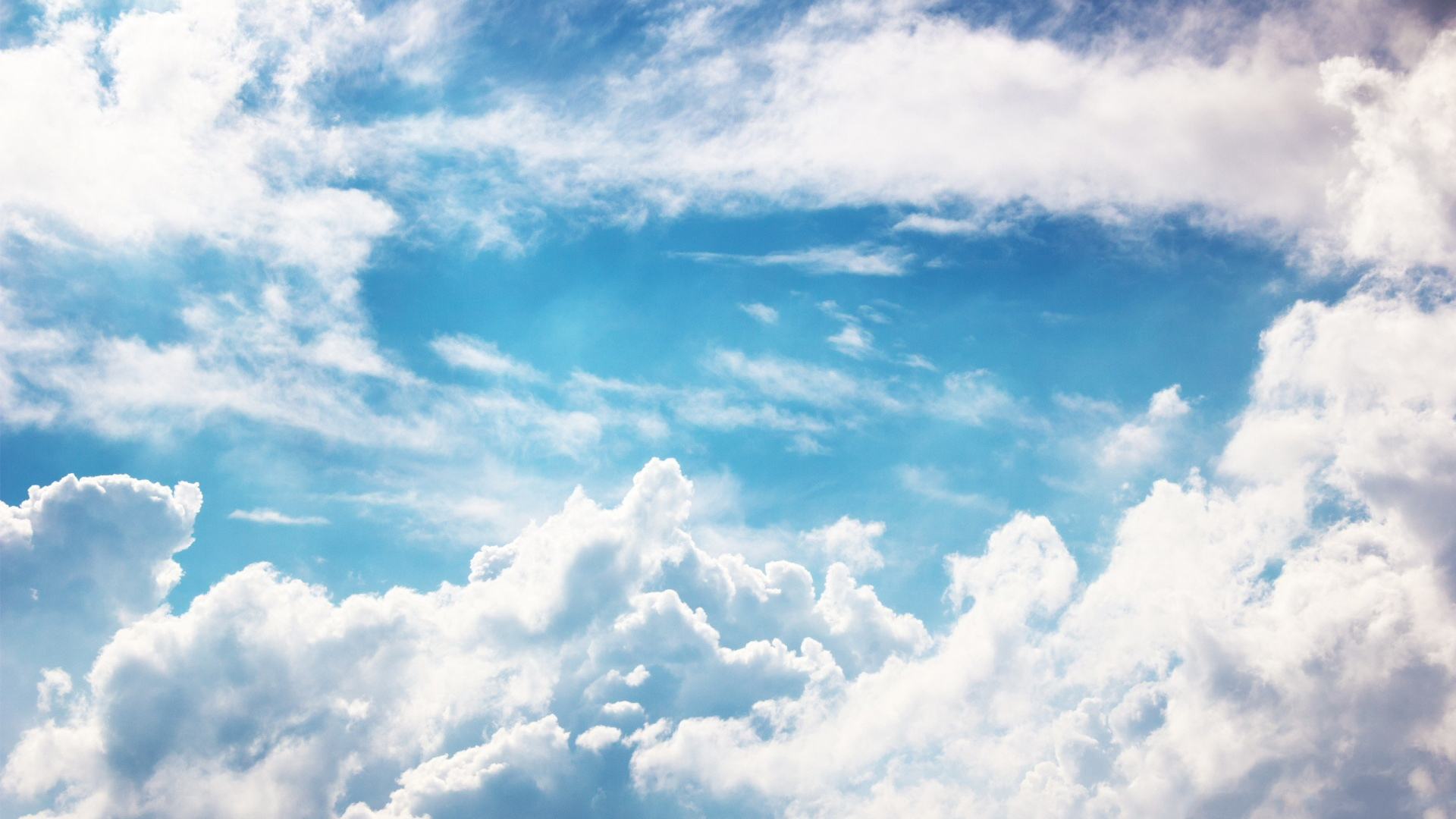 ... White Clouds Wallpaper