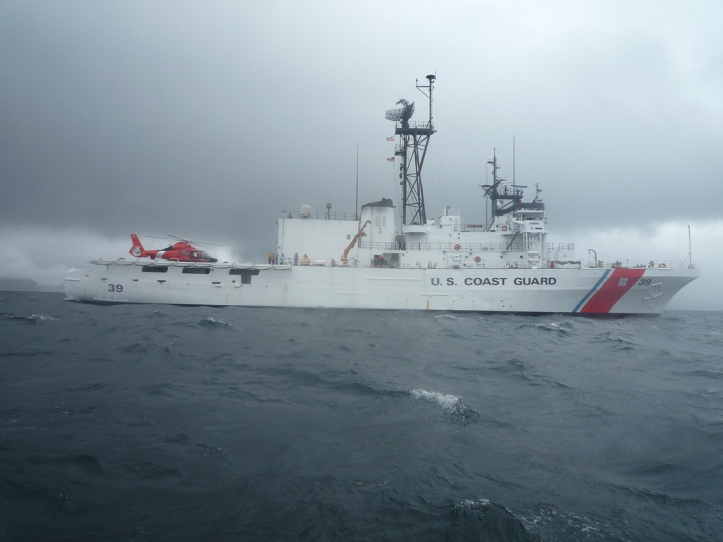 Coast Guard Cutter Alex Haley on patrol. U.S. Coast Guard photo.
