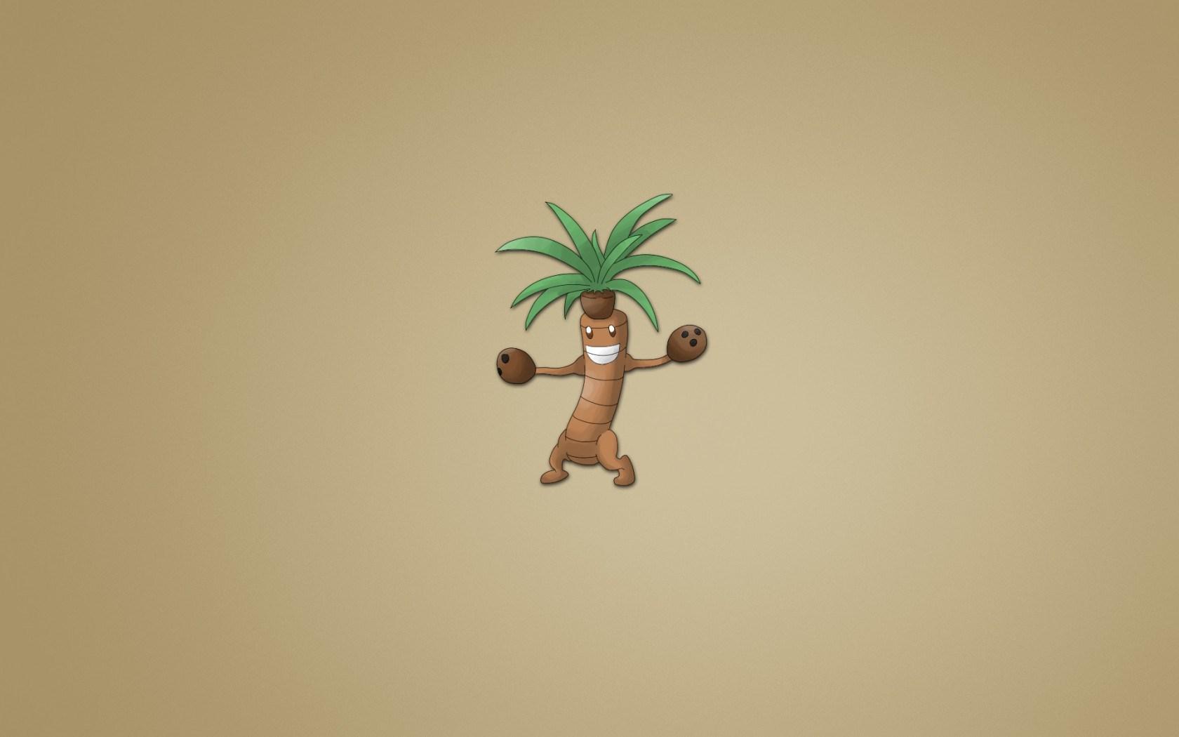 Coconut Tree Smile Minimalism Art