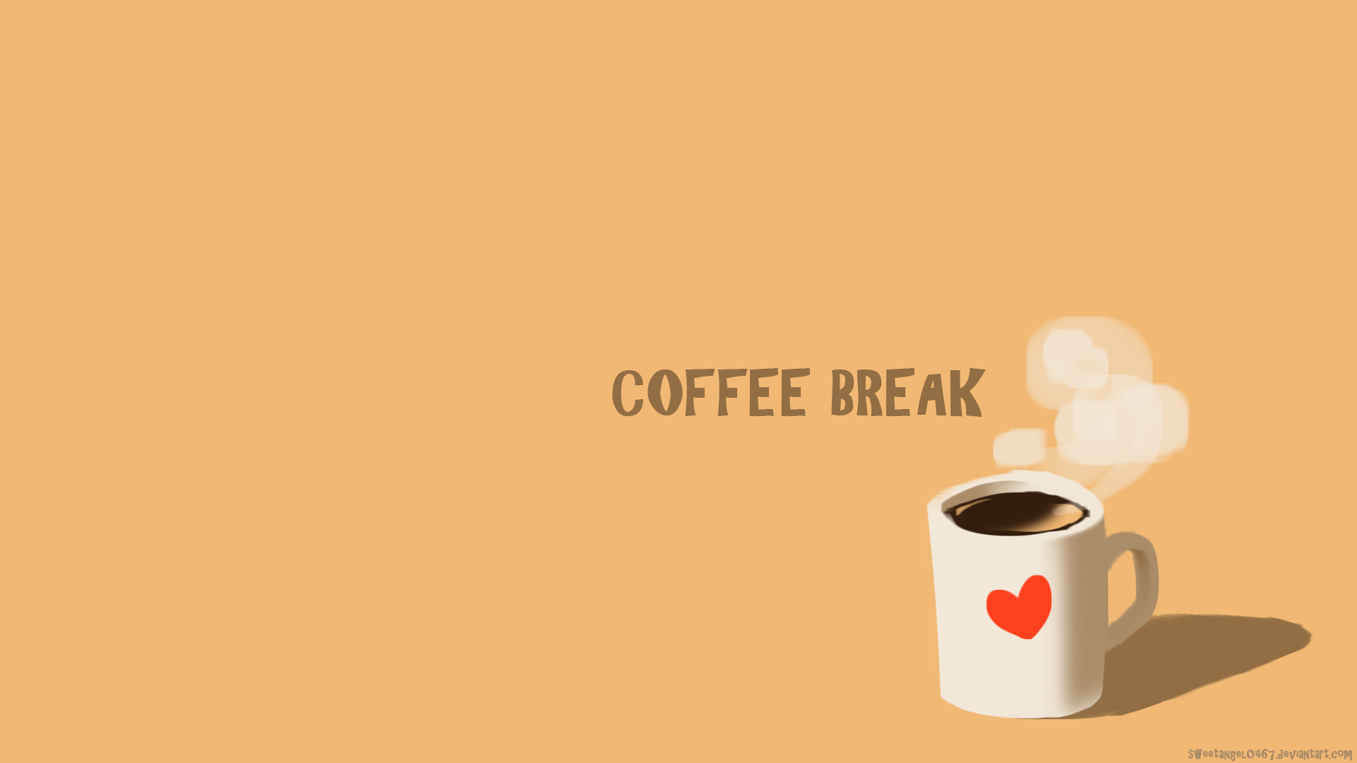 Coffee Break Wallpaper by sweetangel0467 Coffee Break Wallpaper by sweetangel0467