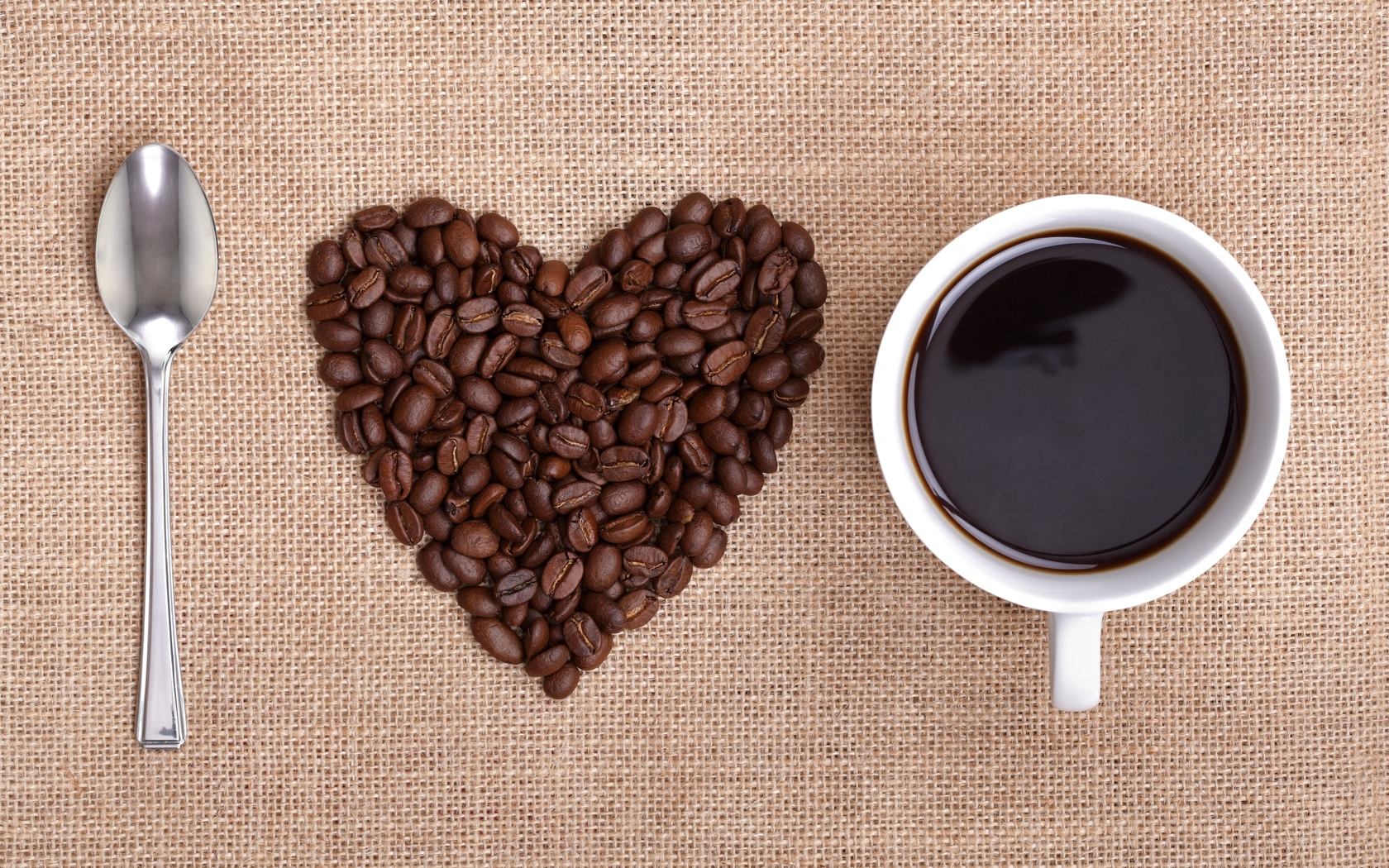 Heart Coffee Wallpaper