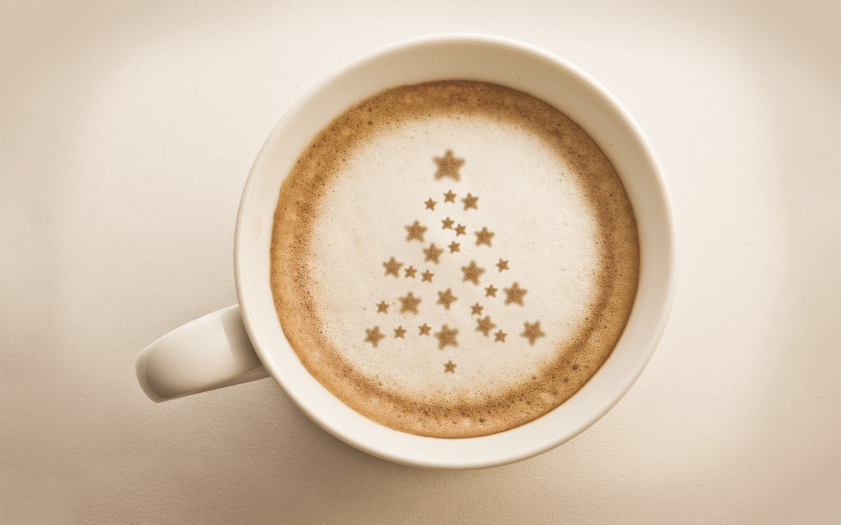 Coffee xmas foam