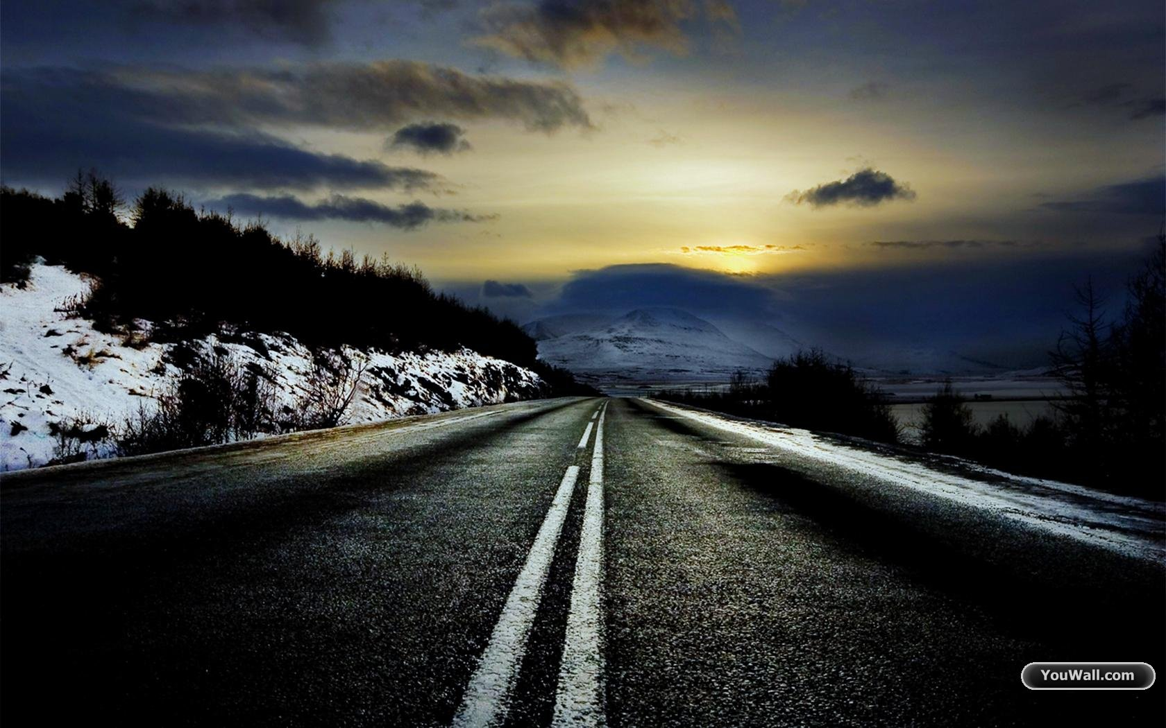 Cold Road Wallpaper
