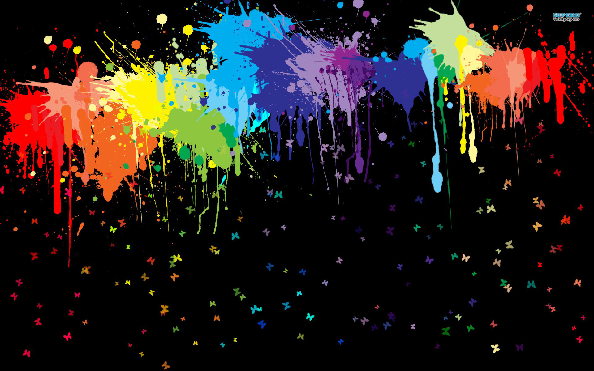 Color Splash Wallpaper