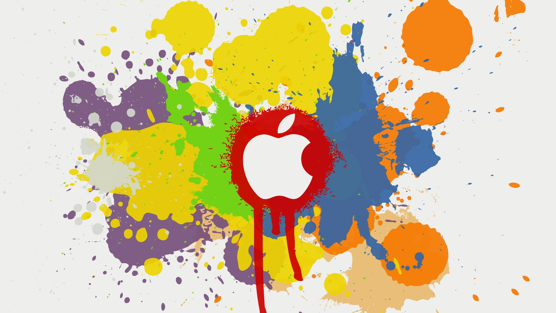 Apple Color Splash Effect Wallpaper #103544 - Resolution 1920x1080 px