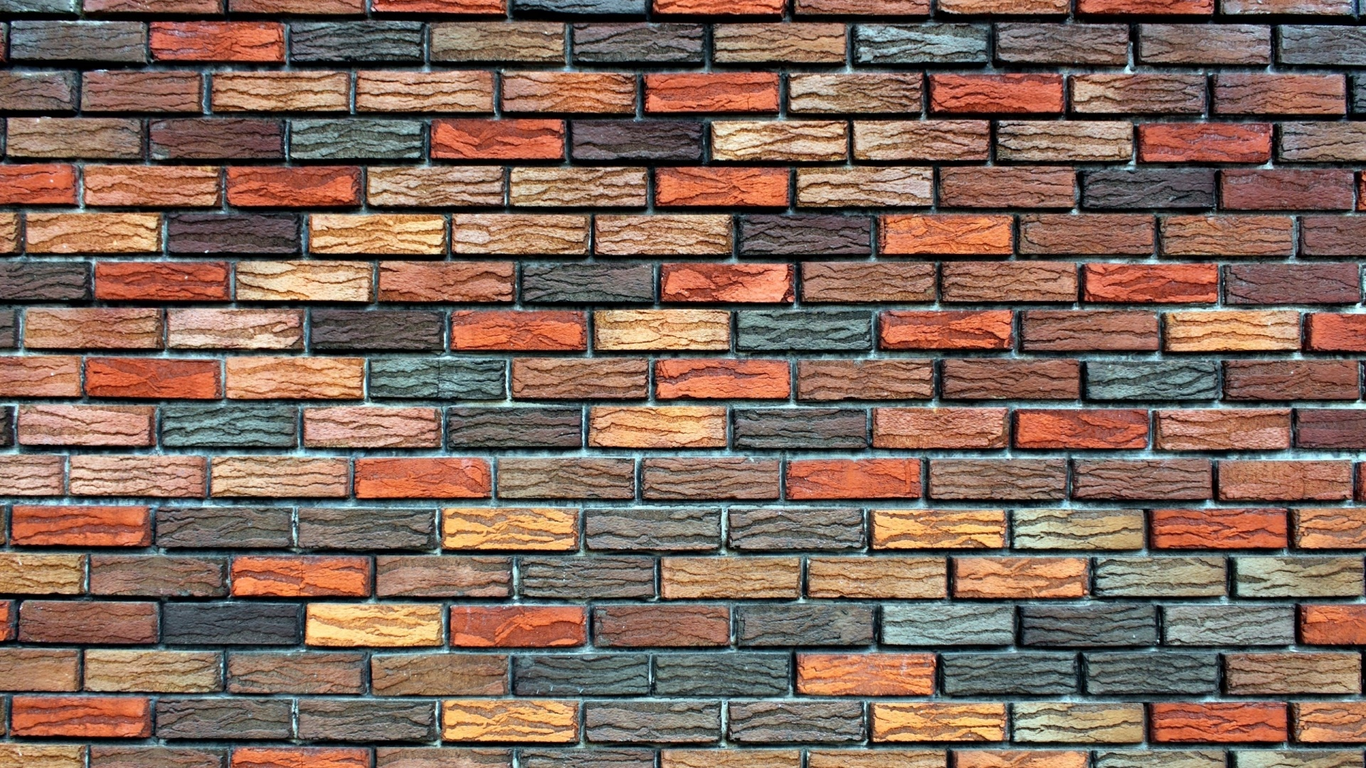 Colored bricks wall Wallpaper in 1920x1080 HD Resolutions