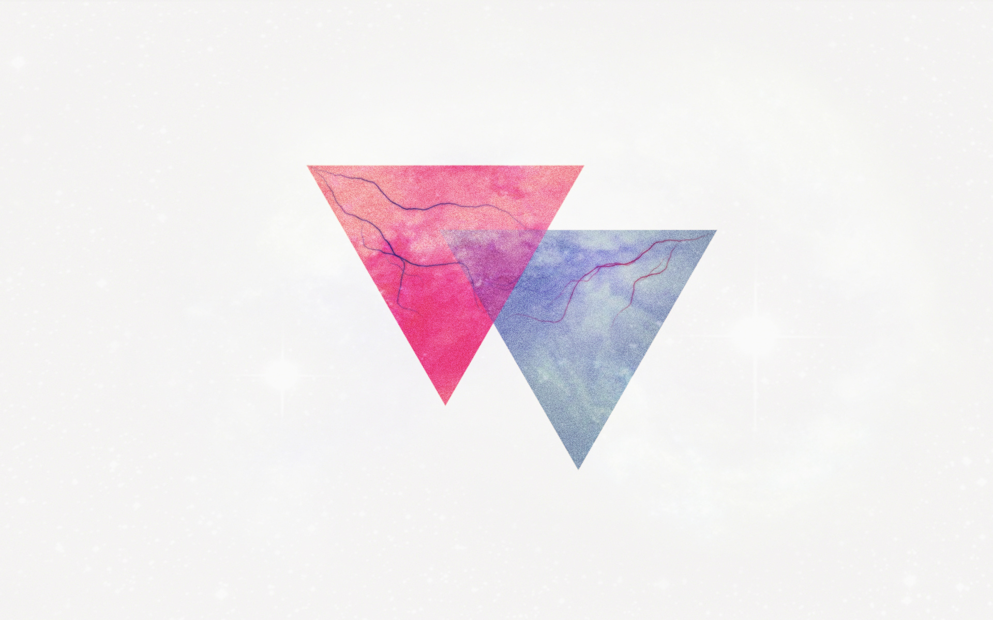 3840x2400 Wallpaper triangle, minimalism, lightning, veins