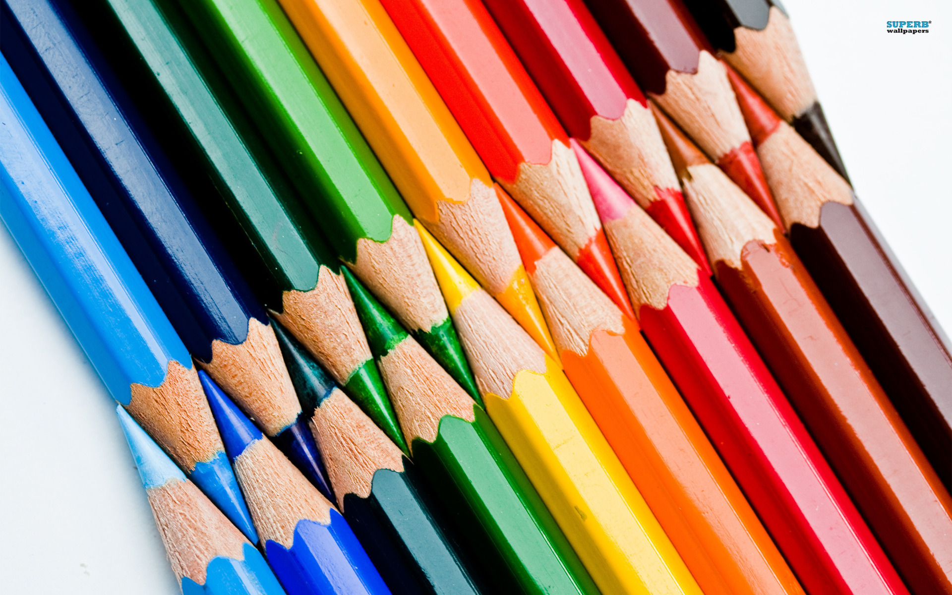 Colored pencils wallpaper 1920x1200