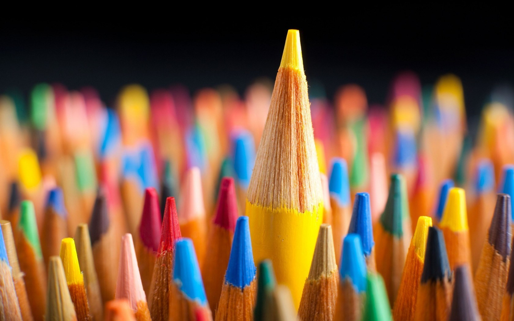 Colored Pencils Up Close Wallpaper