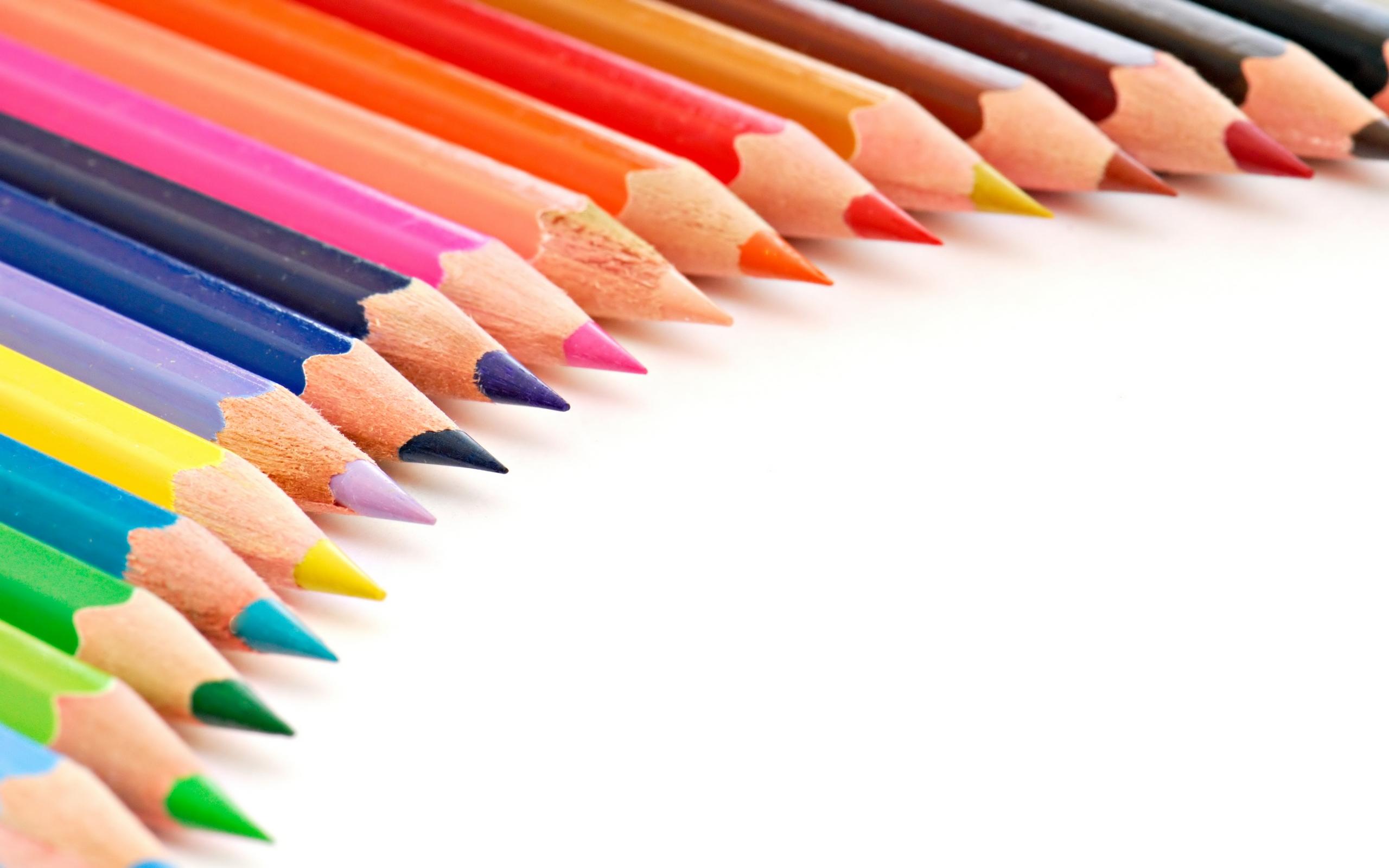 Colored Pencils Wallpaper HD