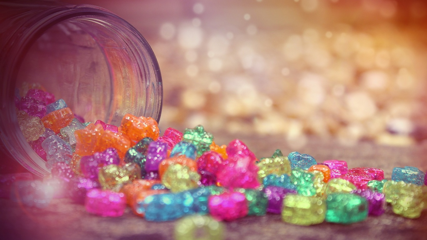 Colored sweets Wallpaper in 1366x768 HD Resolutions