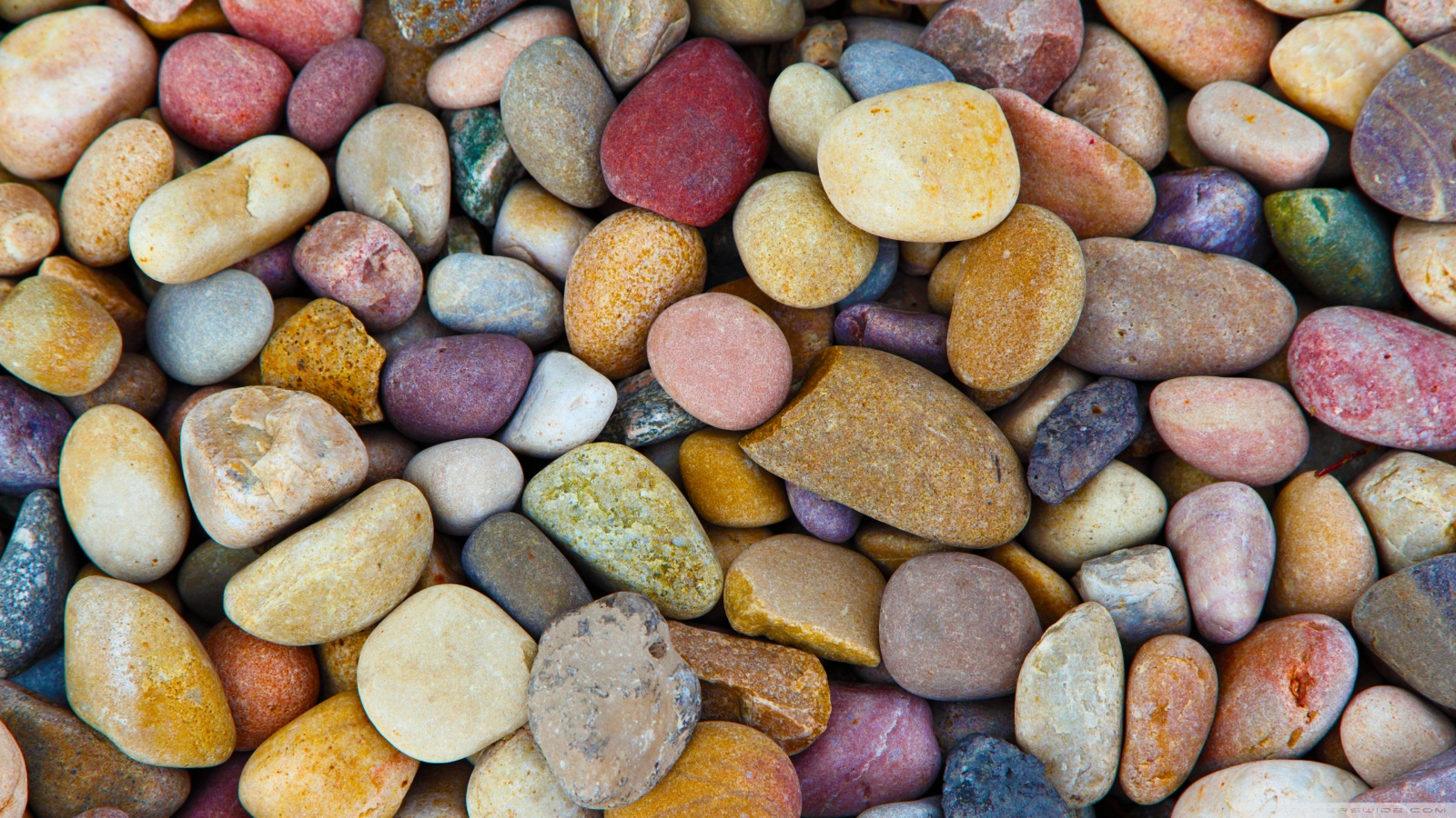 Colorful Pebbles Wallpaper