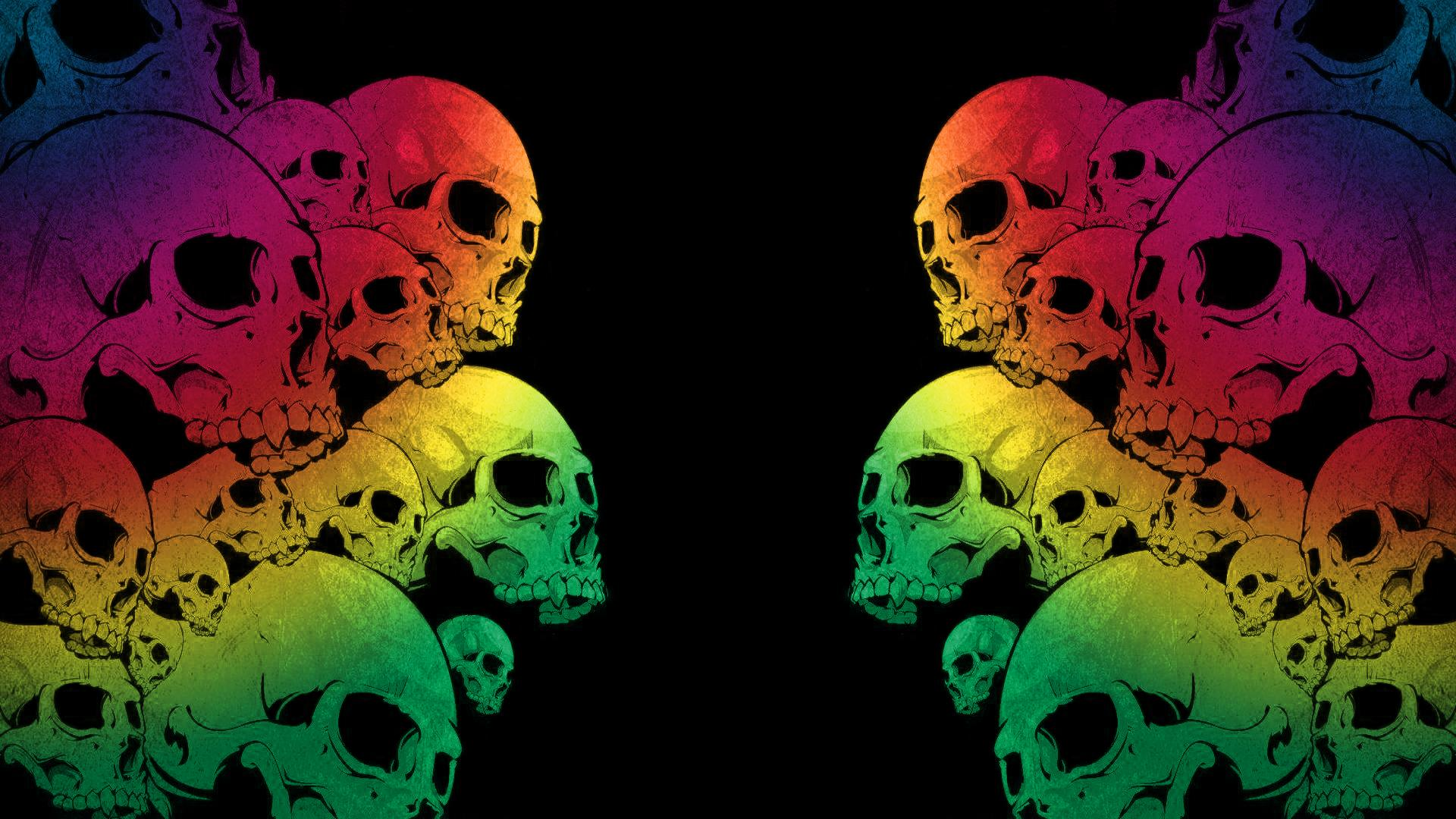 Colorful Skull Backgrounds