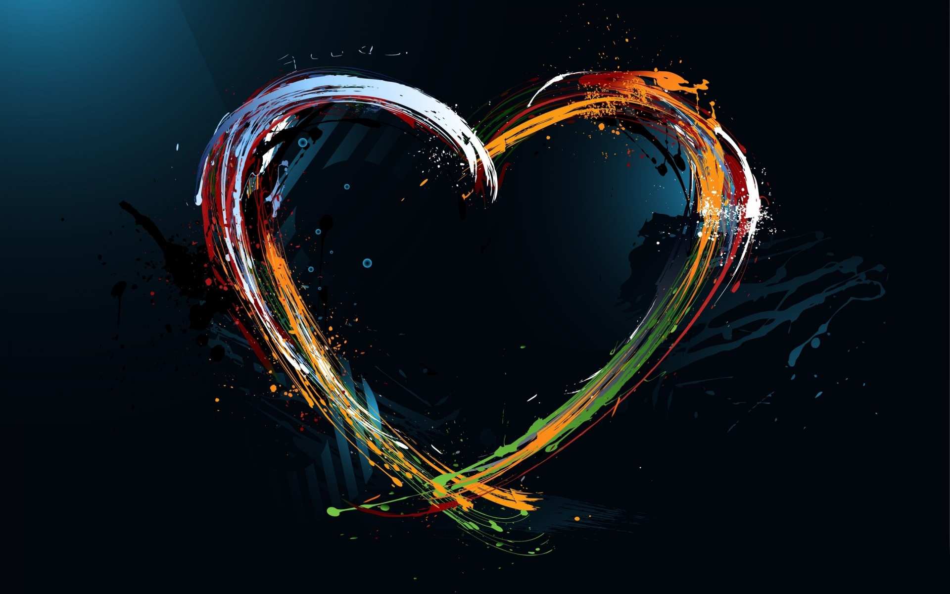 Colourful Heart Wallpaper in 1920x1200 Widescreen