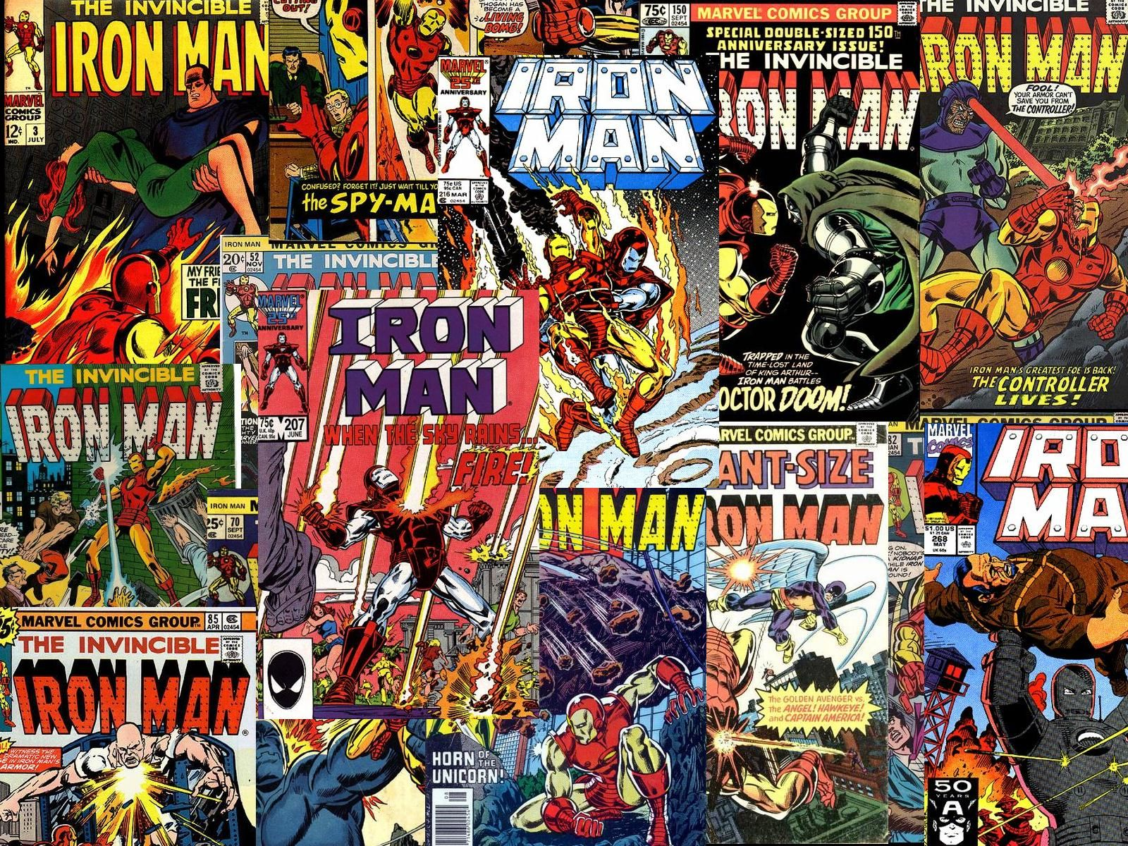 Vintage Comics Iron Man Desktop Wallpaper