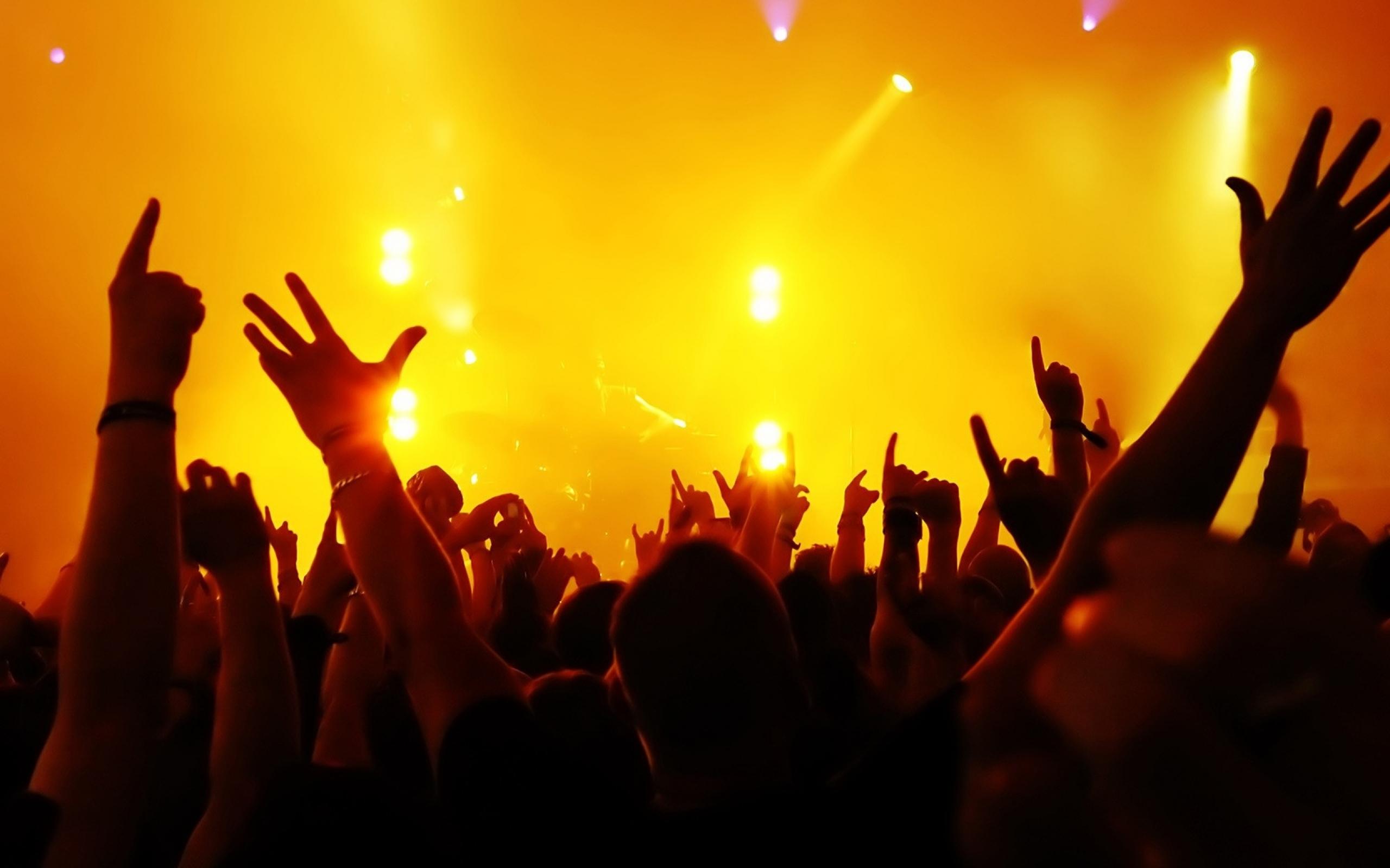 Concert lights hands
