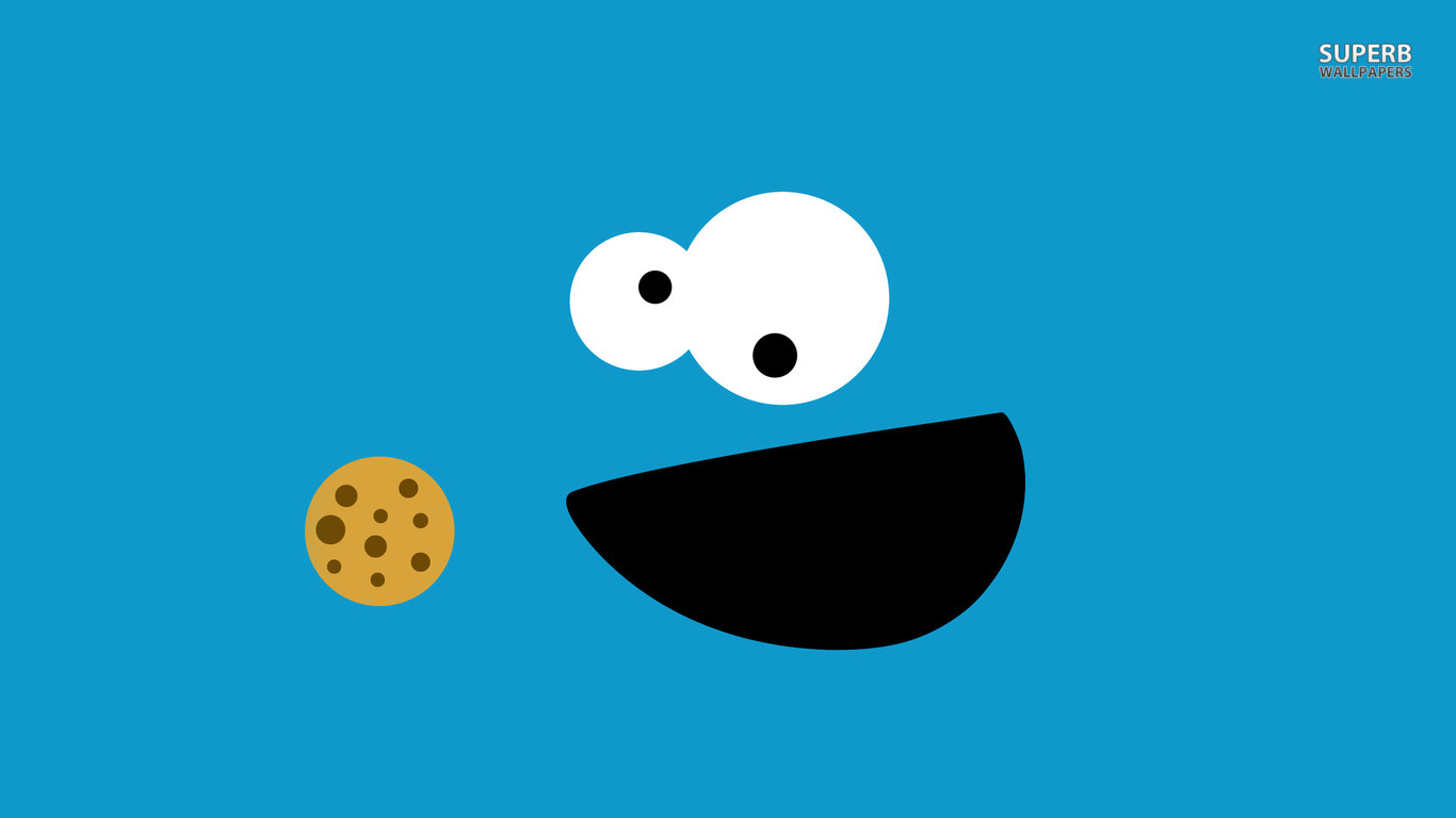 Cookie Monster wallpaper 1366x768
