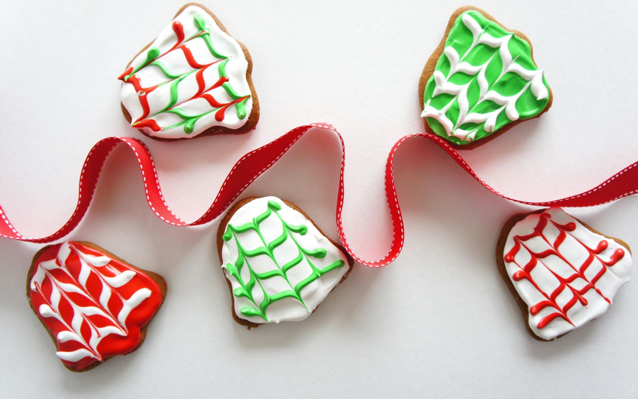 Cookies Bells Ribbon Christmas New Year