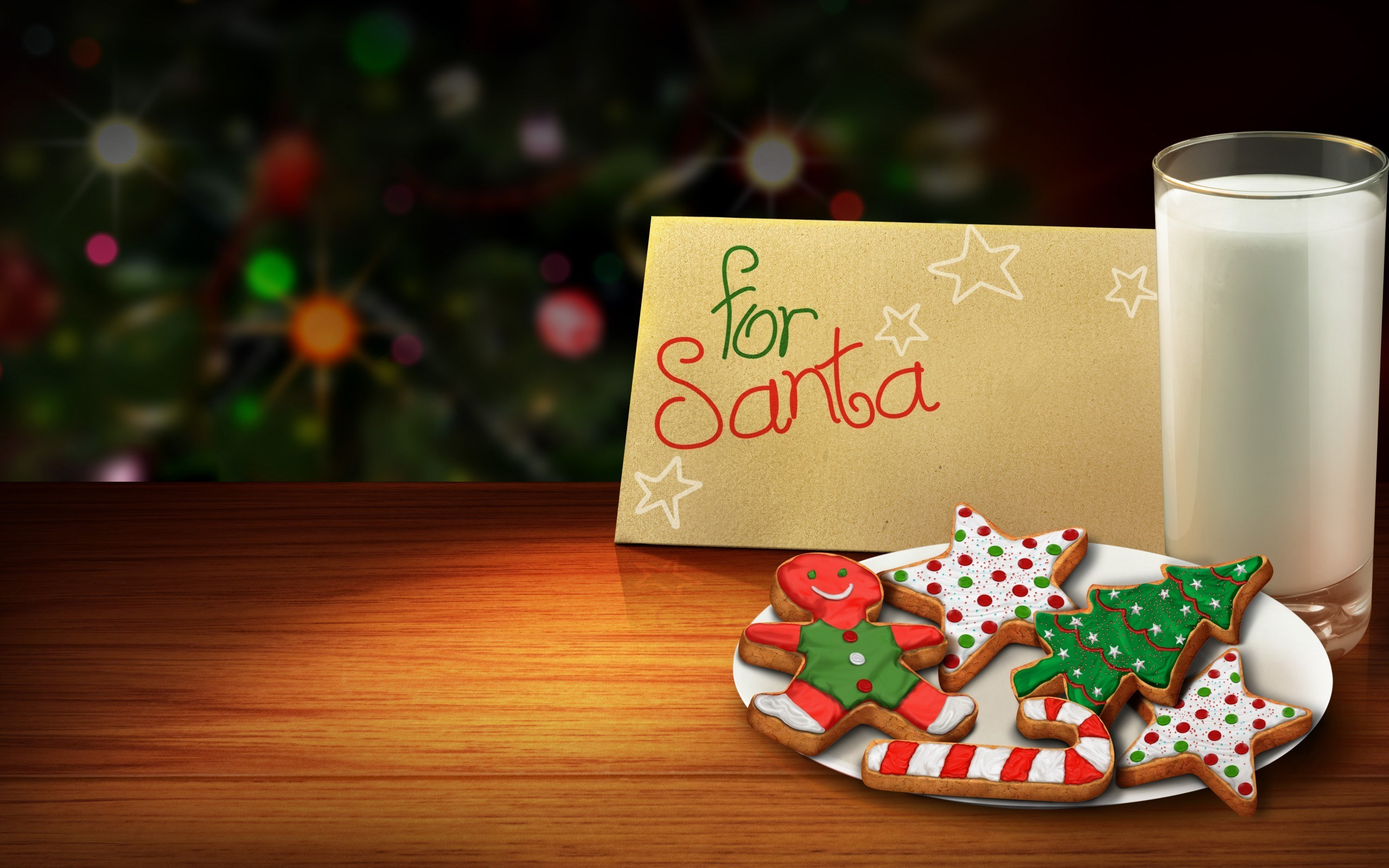 Cookies for Santa Christmas Tree Happy New Year