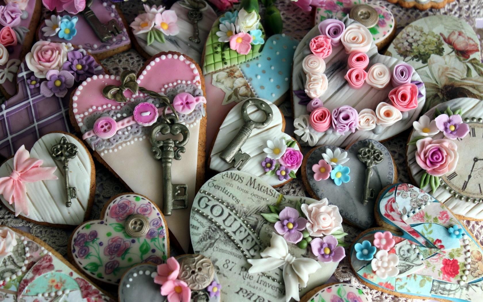 Cookies Hearts Flowers Love Mood