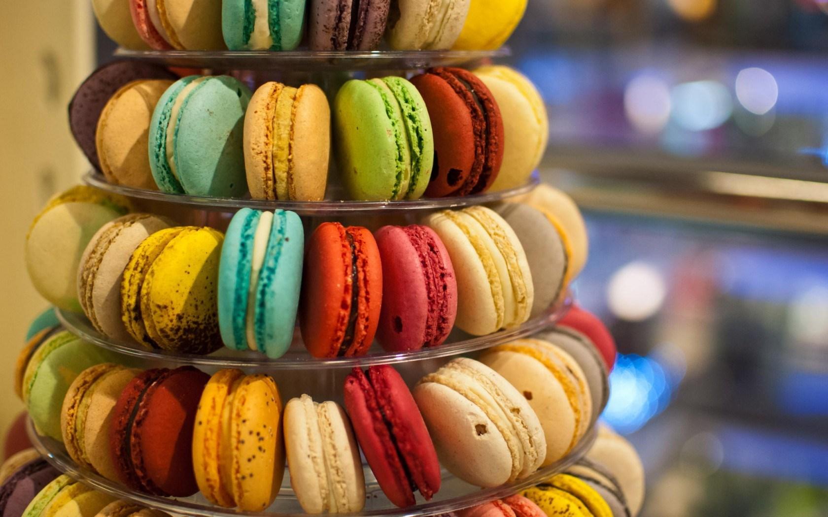 Cookies Macaron Macaroon Colorful Assorted