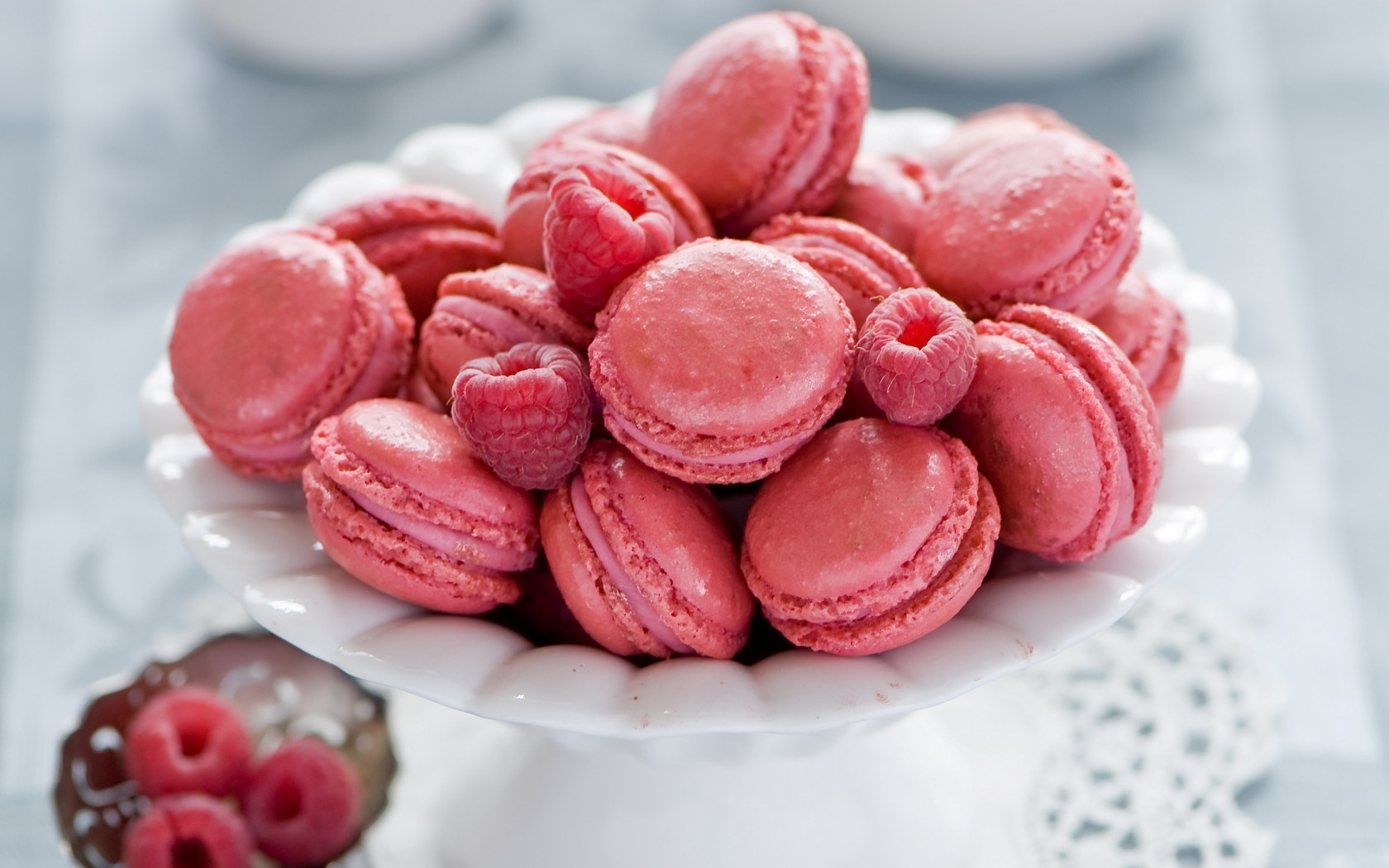 Cookies Pink Raspberry Berry Dessert