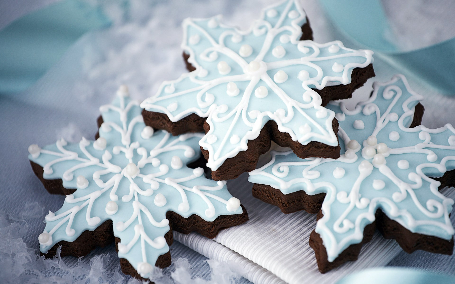 Cookies Snowflakes Dessert Pastry Christmas New Year