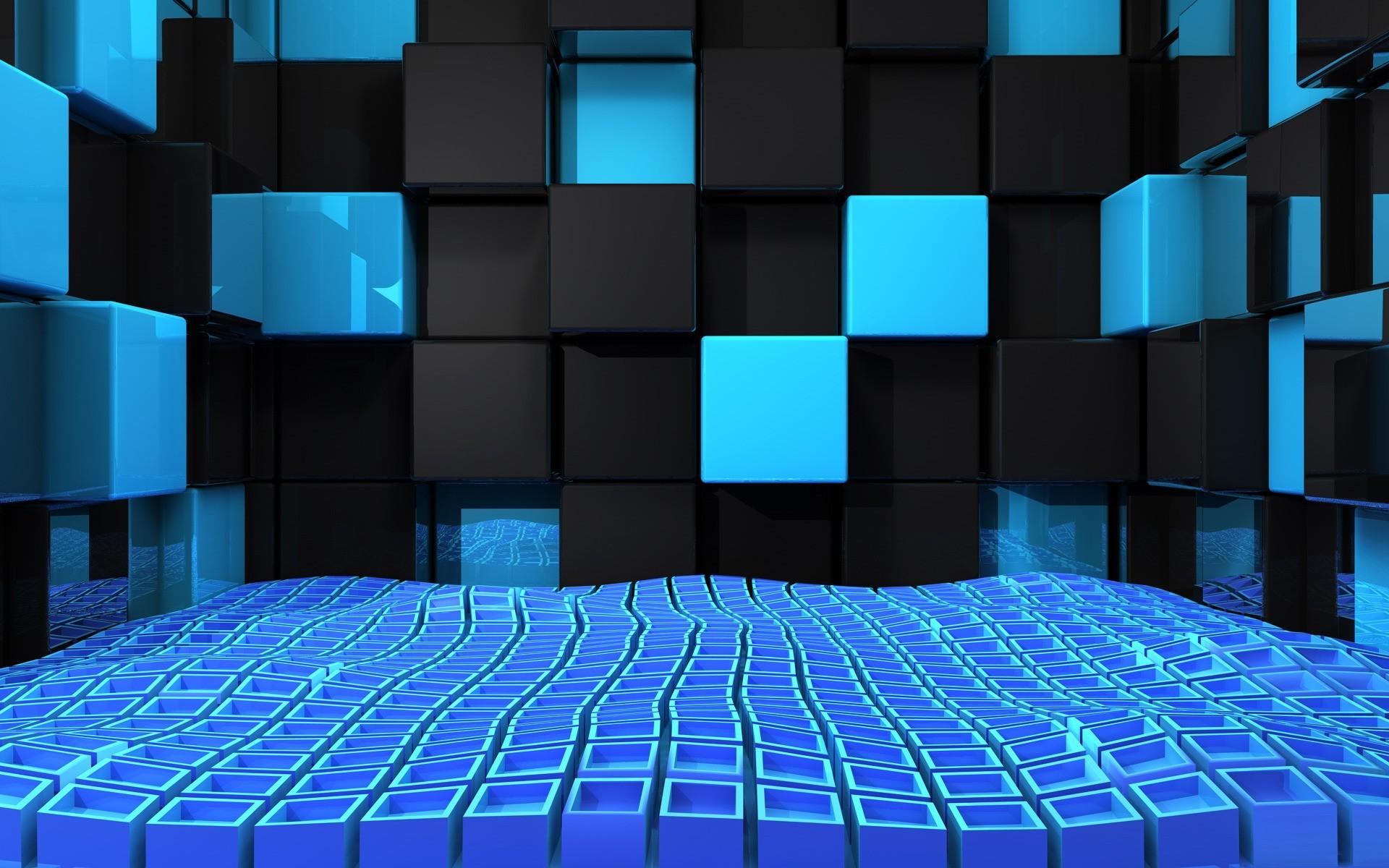 Cool 3D Cubes Twitter Background Wallpaper