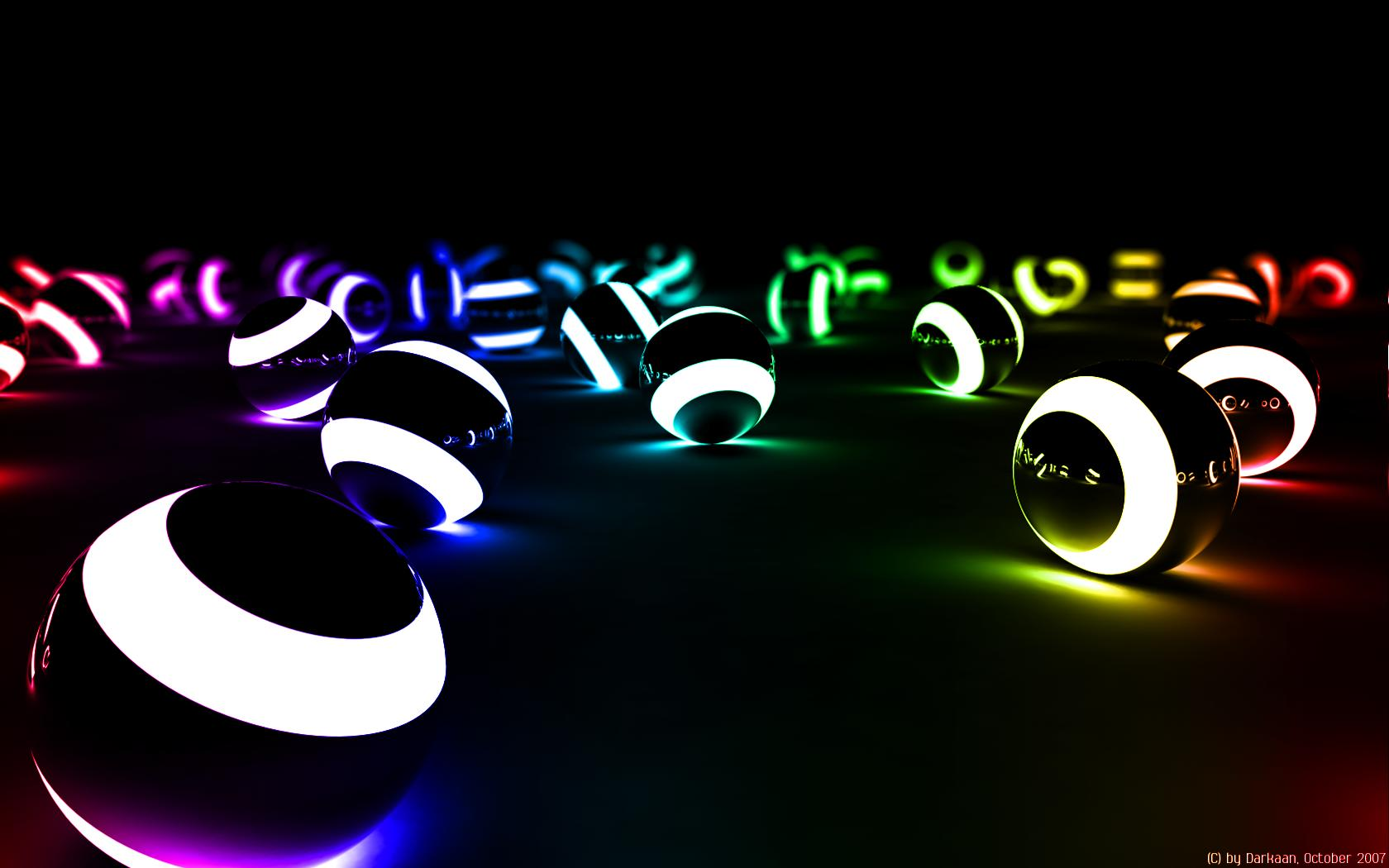 Cool 3D Backgrounds Colorful Ball