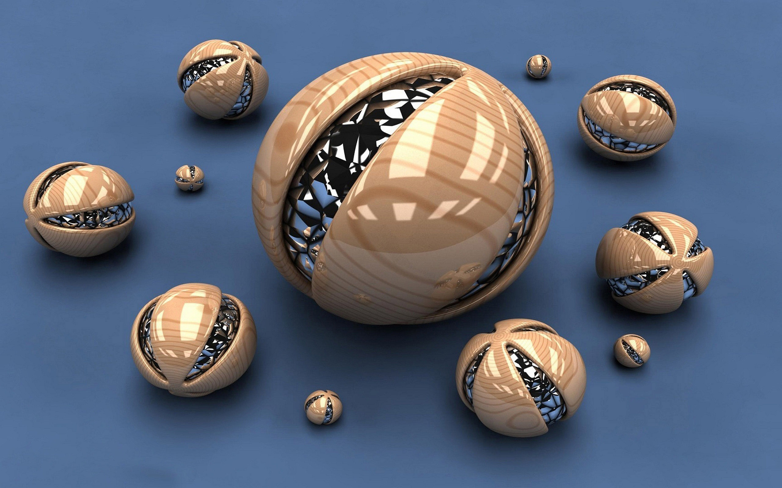 Cool 3D Spheres Wallpaper in 2560x1600 Widescreen