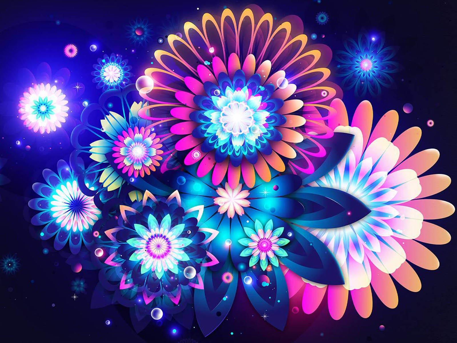 Cool Abstract Flowers