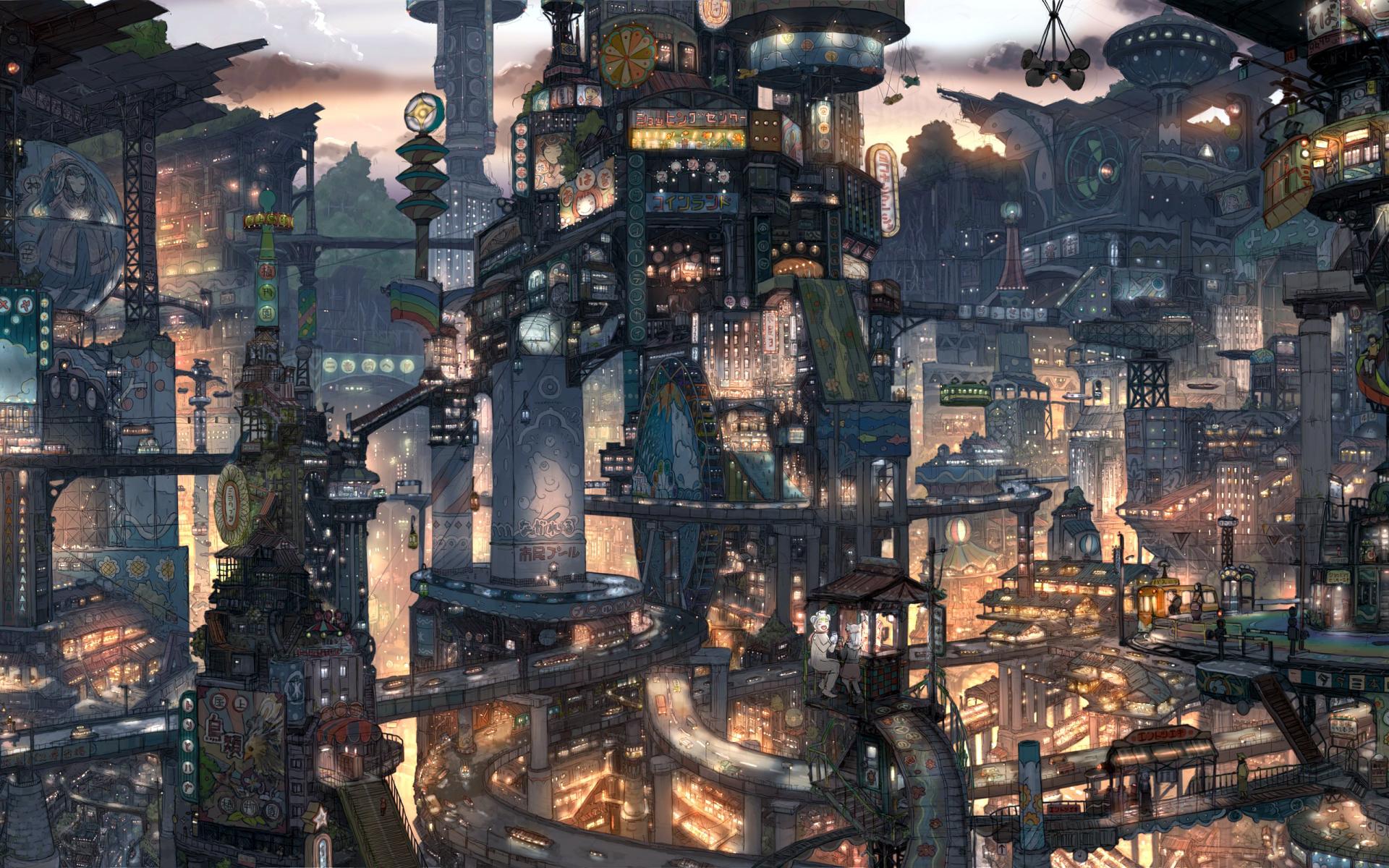 Cool Anime City Wallpaper