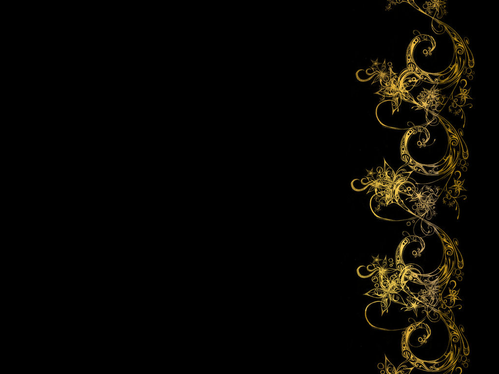 Cool Black and Gold Wallpaper