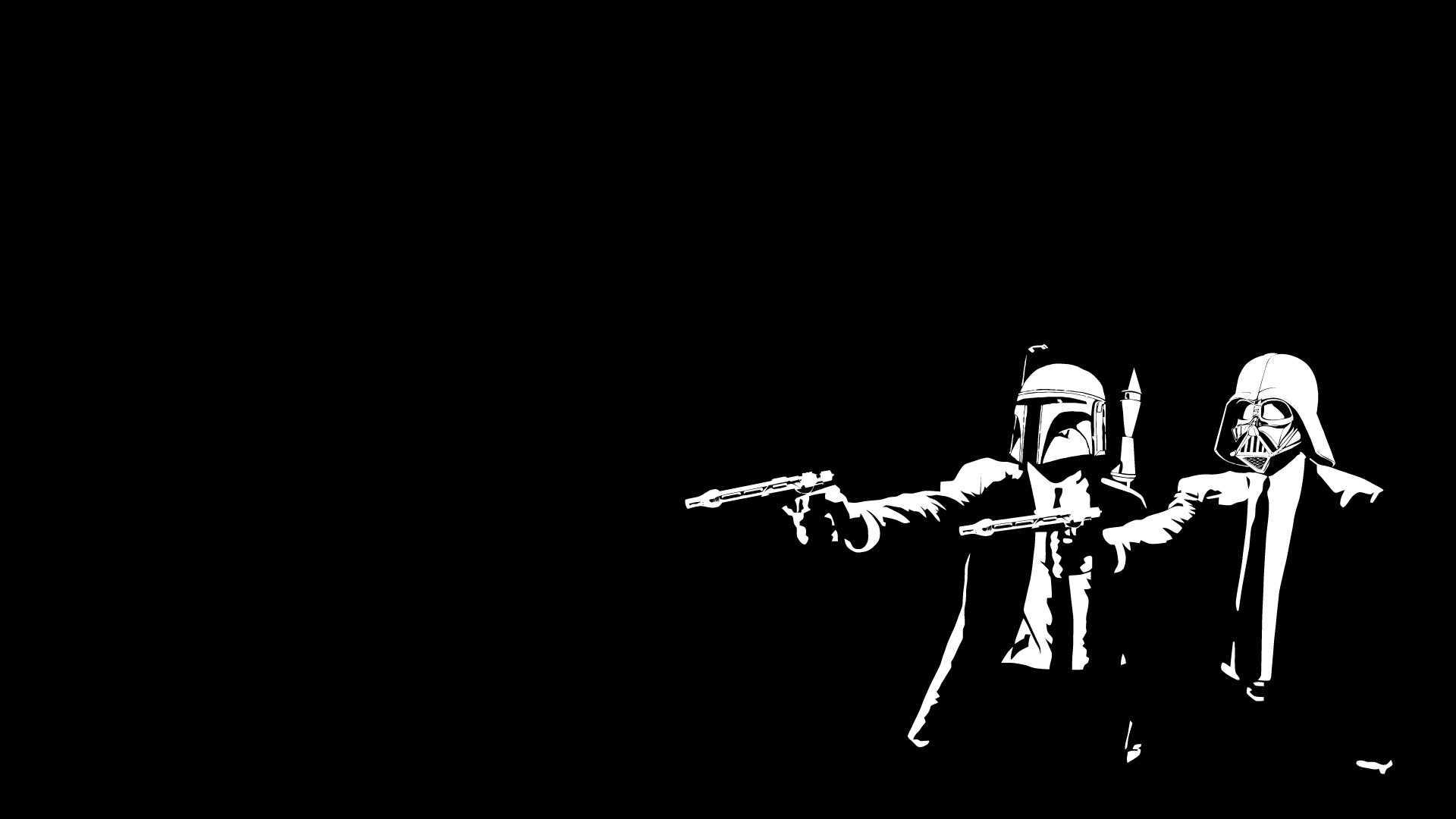 Gun Man Cool Black Wallpaper