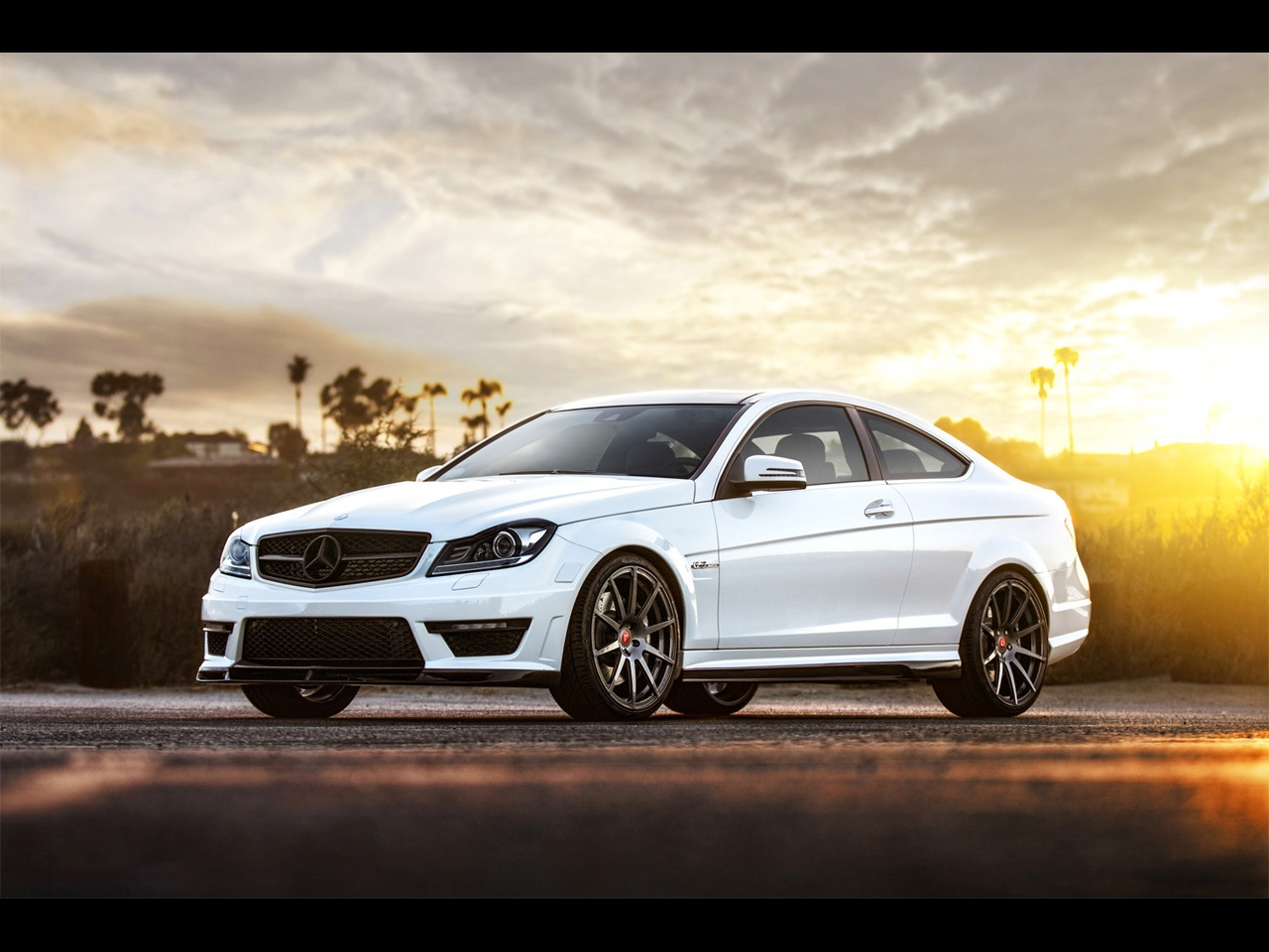 2013 Mercedes Benz C63 Amg Front Angle Static HD Desktop wallpaper, images and photos