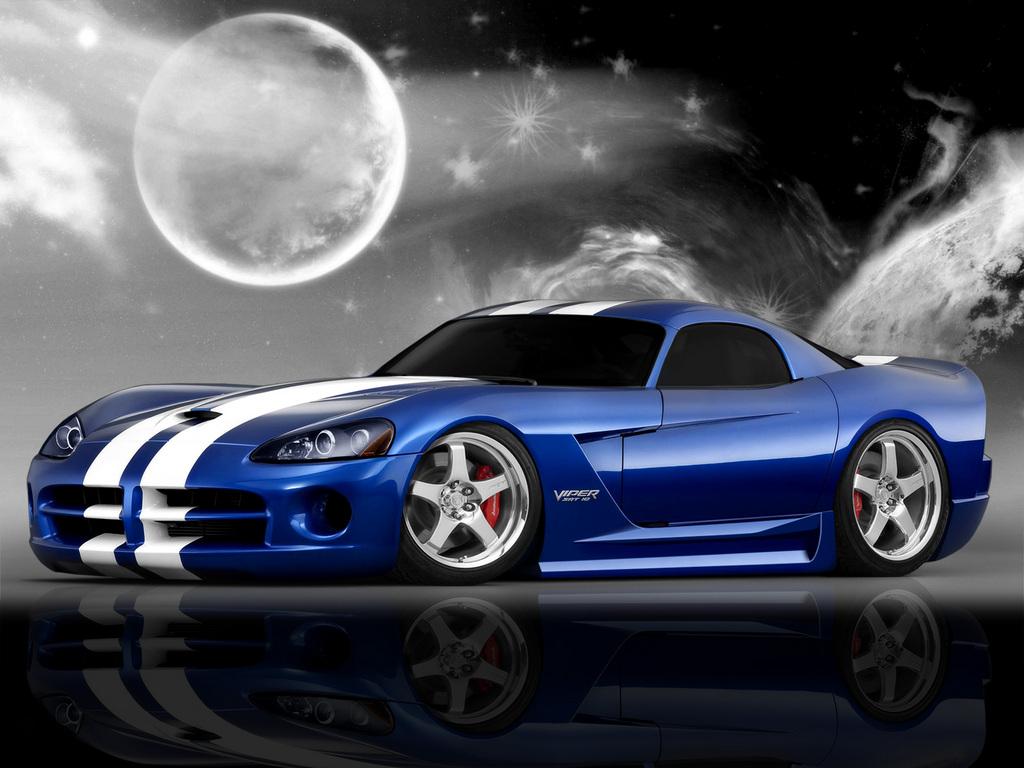 Blue Dodge Viper Wallpaper Desktop Wallpaper