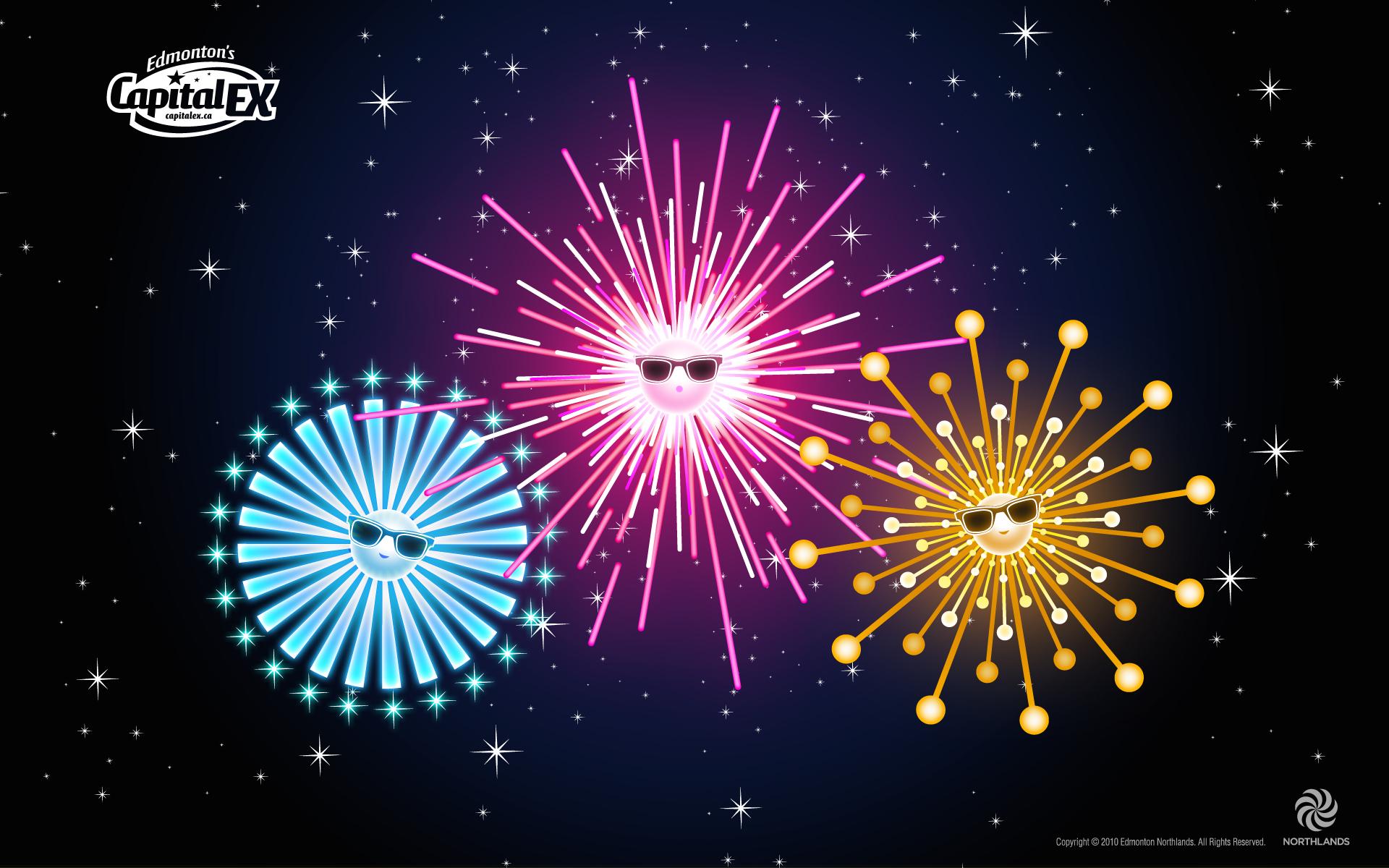 Cool Fireworks Wallpaper