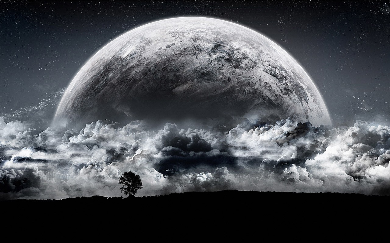 Cool Full Moon Wallpaper