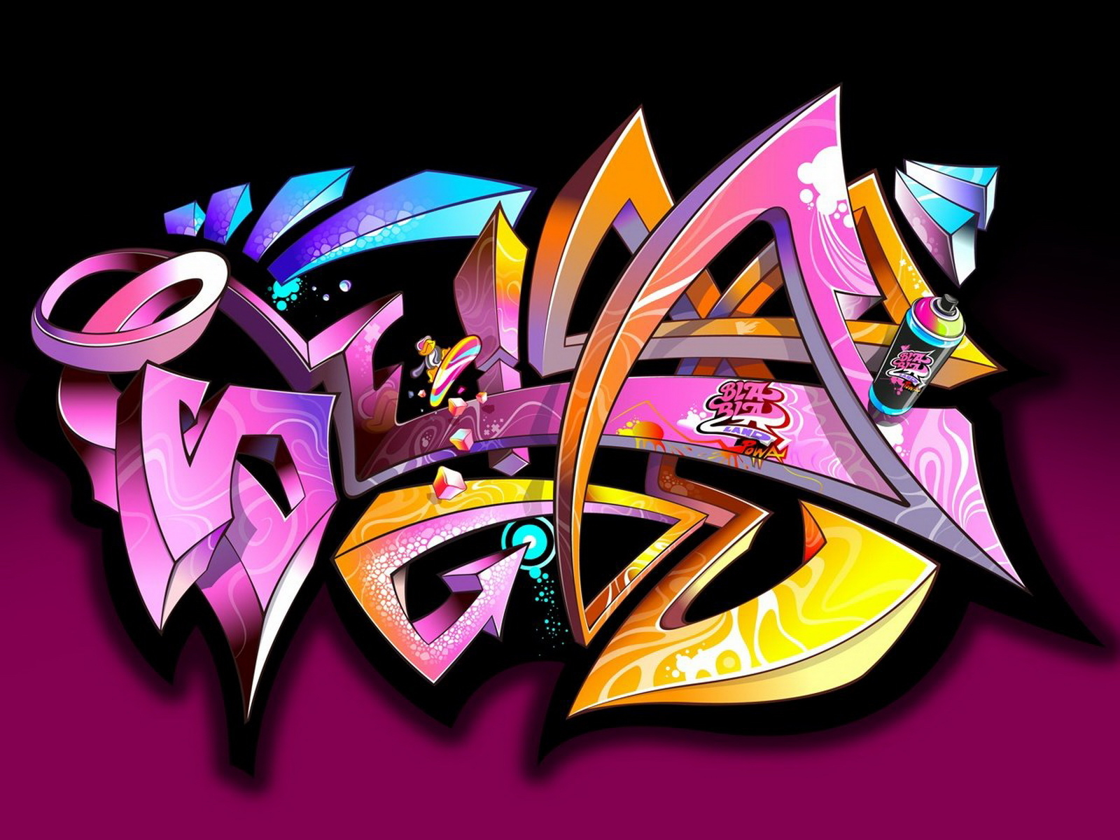 awesome graffiti widescreen full hd wallpaper