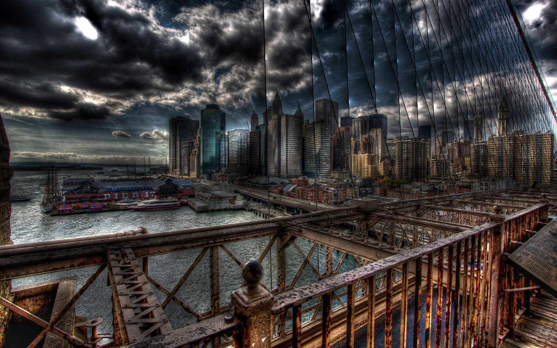 Cool HDR City Wallpaper