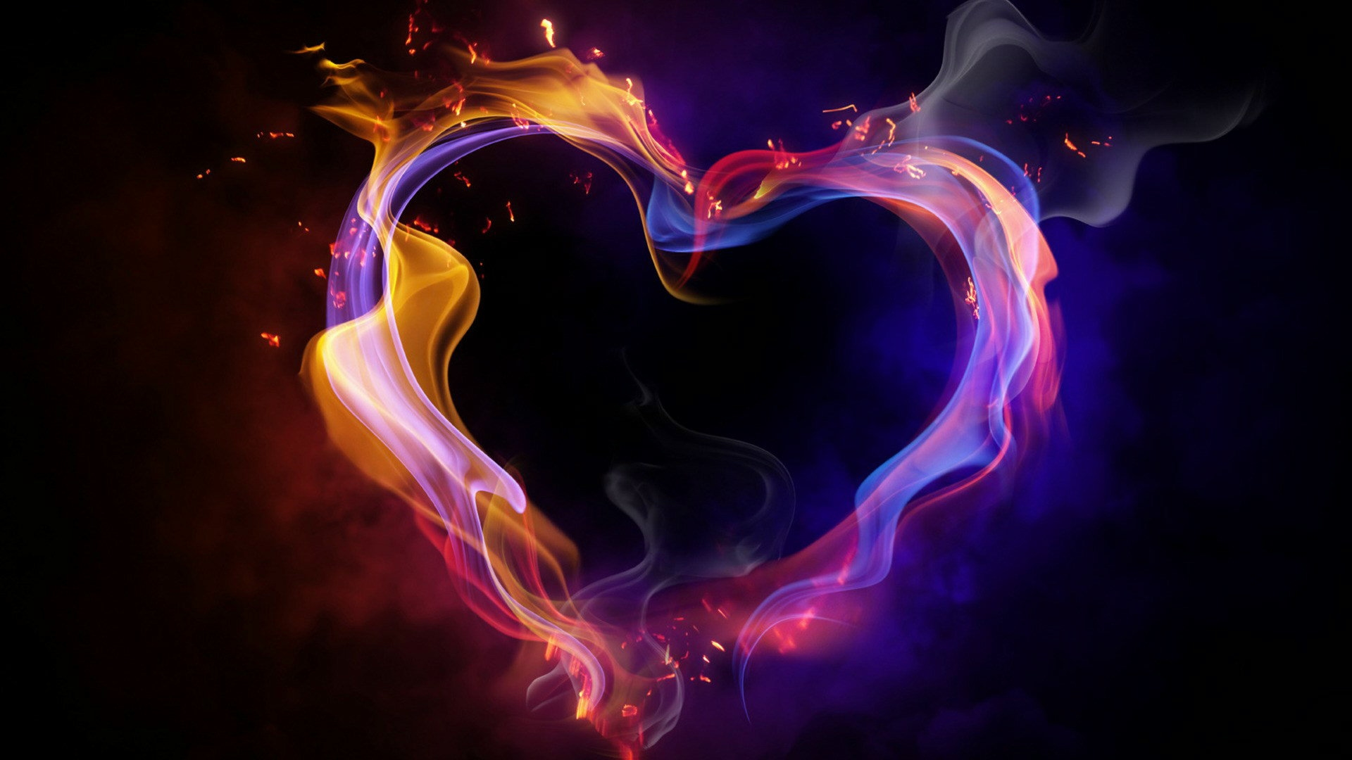 Hd Cool Color Abstract Heart