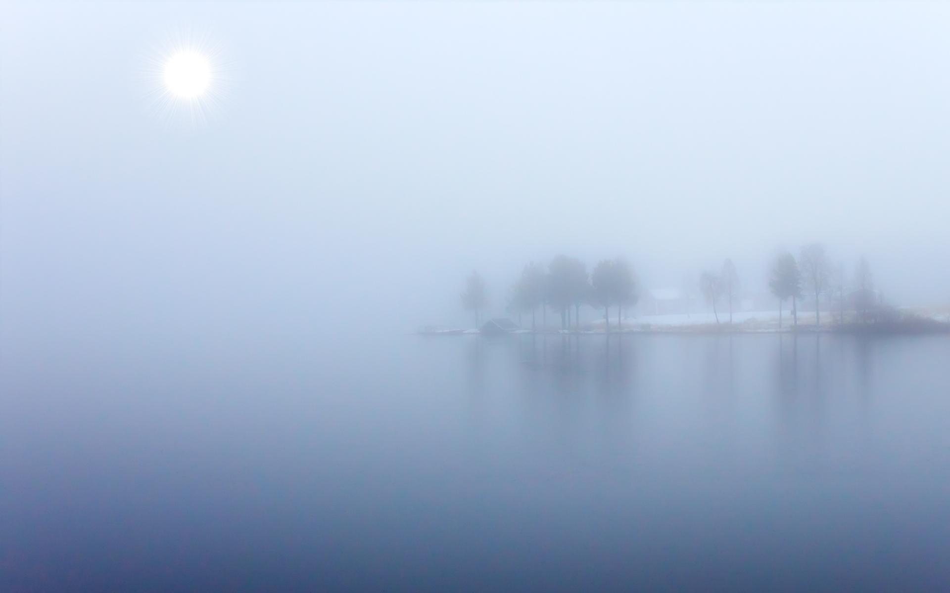 Cool Lake Mist Wallpaper 33768 1920x1200 px