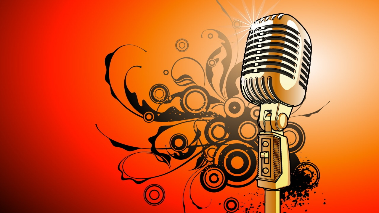 Cool Microphone Wallpaper