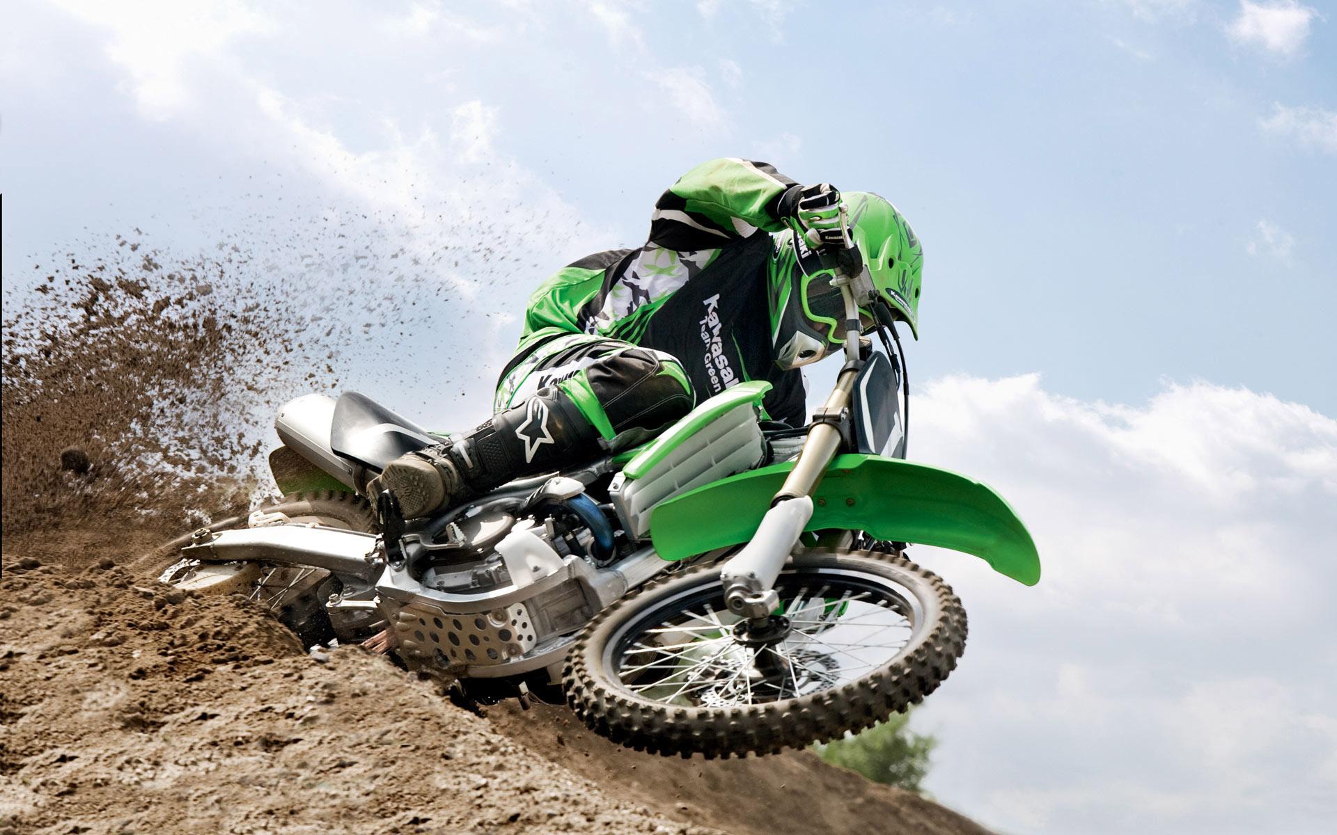 kawasaki motocross stunt high resolution wallpaper